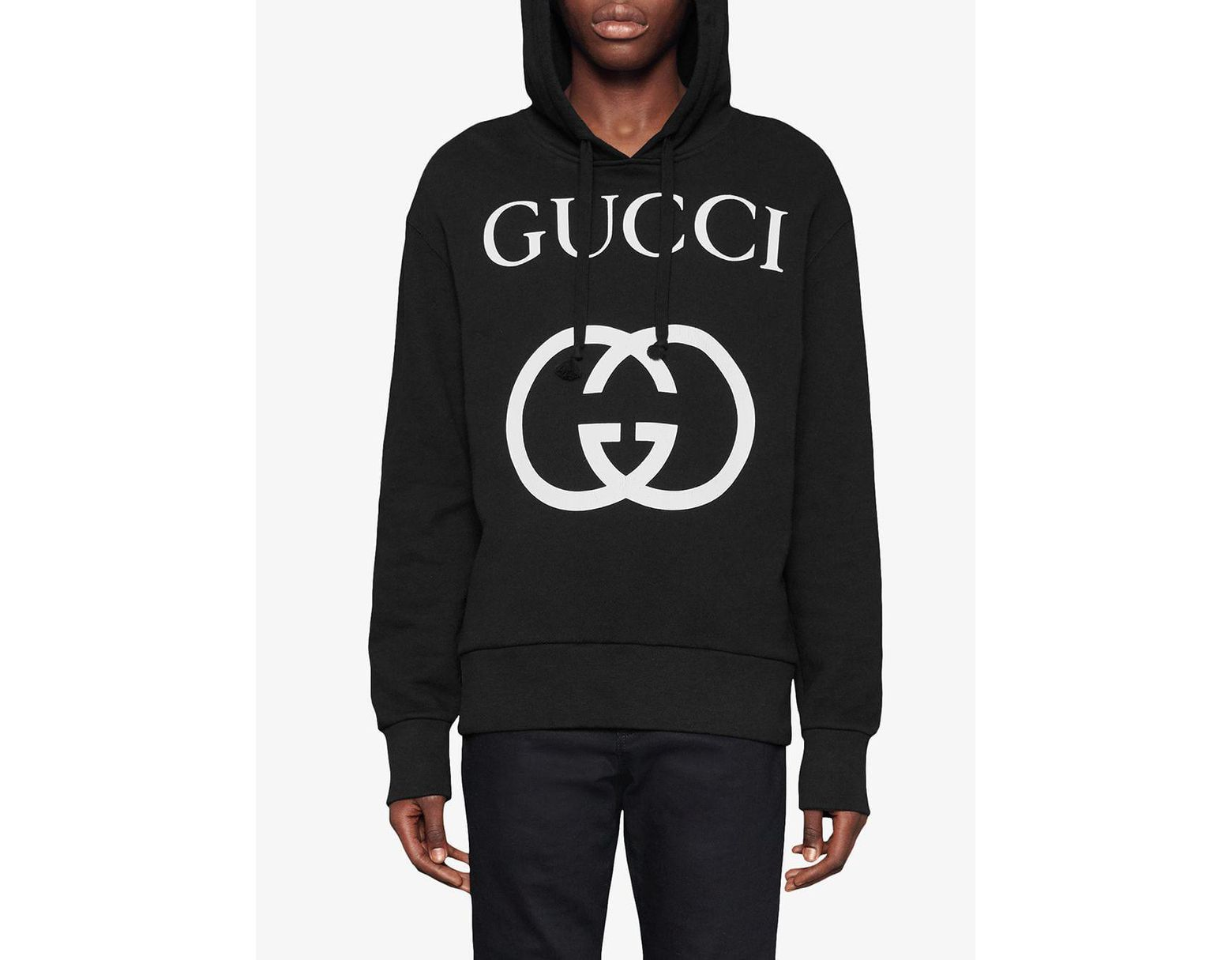 1cc0b7aa1 Gucci Hooded Sweatshirt With Interlocking G in Black for Men - Lyst