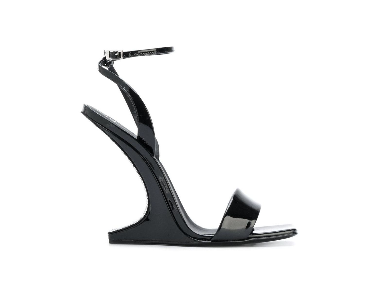 6d0163524c74d Giuseppe Zanotti Picard Wedge Sandals in Black - Lyst