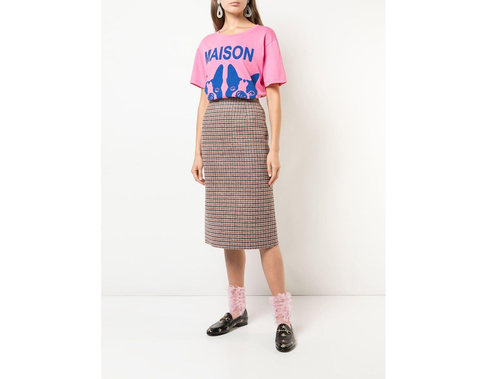 341710983cd Lyst - Gucci French Bulldog Oversized T-shirt in Pink