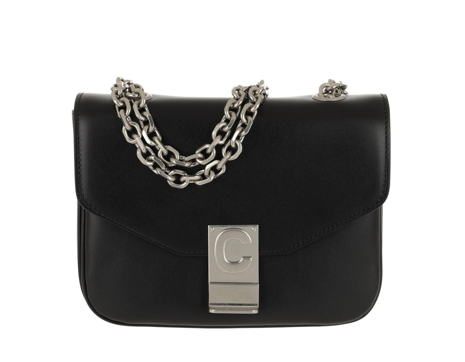 caef34d9 Céline C Bag Small Shiny Calfskin Black in Black - Lyst