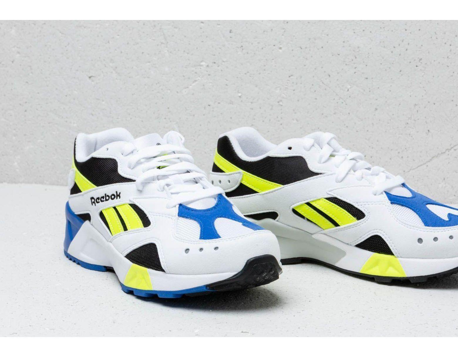 8a490da9b45 Reebok Reebok Aztrek White/ Black/ Cobalt/ Yellow in White - Lyst
