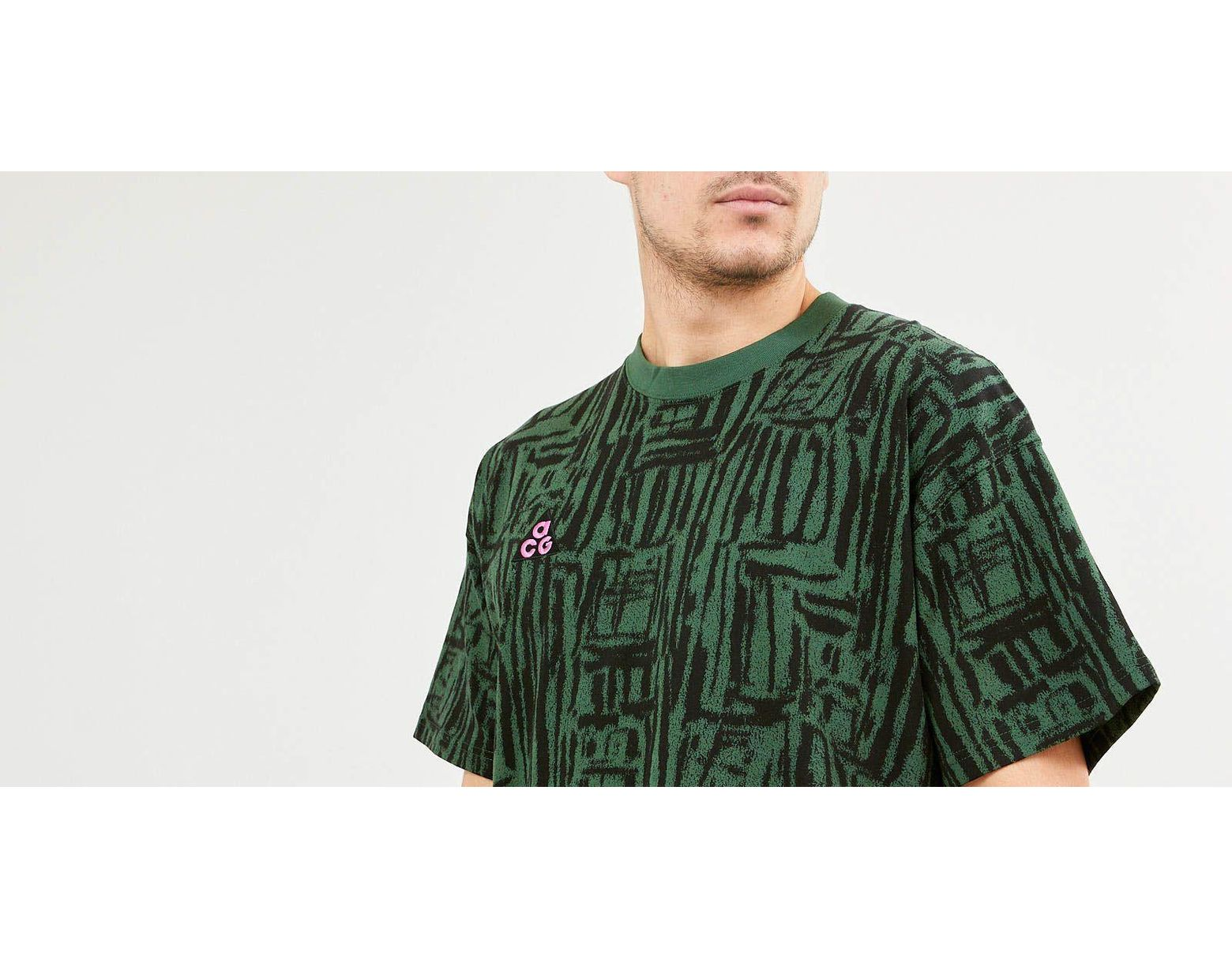 71a97297 Nike Acg Aop Tee Nrg Fir Green/ Black in Green for Men - Lyst