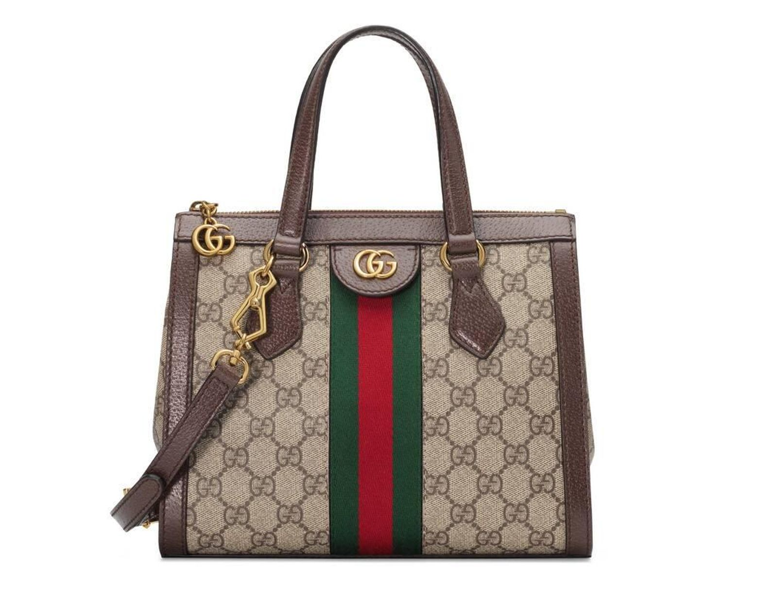 dd6aaf7c4 Gucci Ophidia Small GG Tote Bag in Green - Lyst