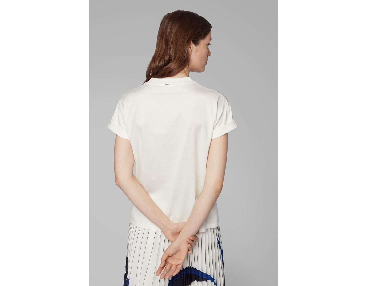 27a0984cb BOSS Relaxed-fit T-shirt In Mercerised Cotton With 3d Print - Lyst