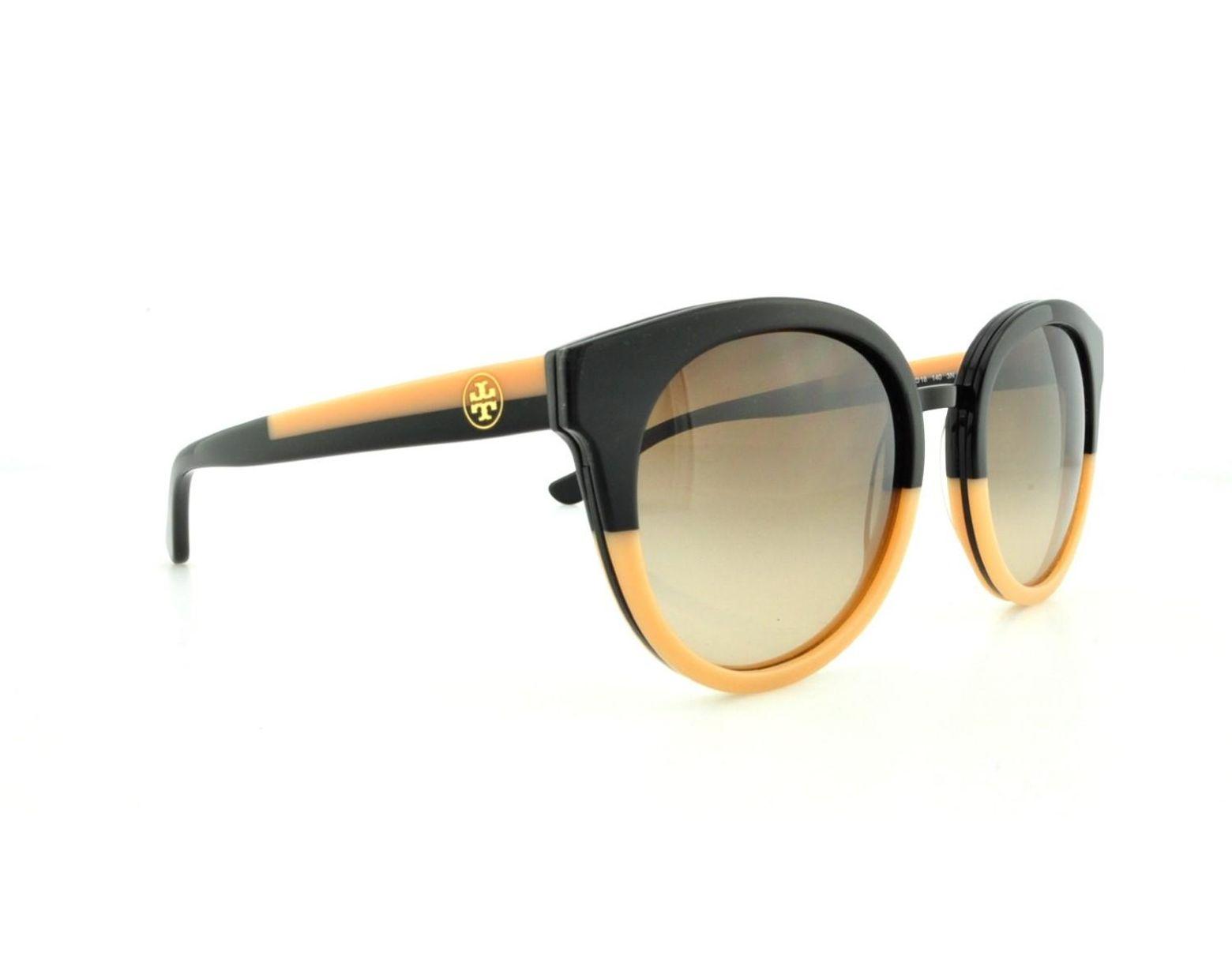 ec8781f7620d Tory Burch Panama Ty7062 Sunglasses 123613-53 - -cream Frame, Brown Gradient  in Black - Lyst