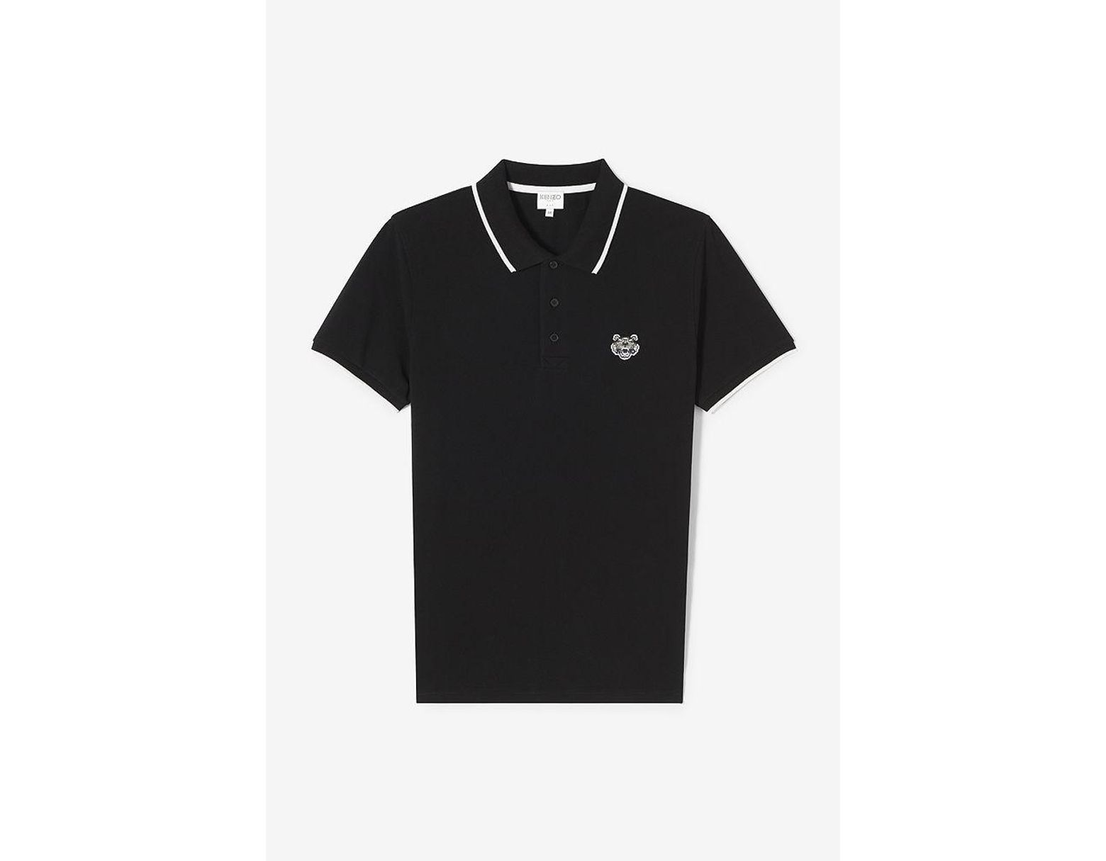 2c42b0c1 KENZO Slim Fit Tiger Polo Shirt in Black for Men - Save 57% - Lyst