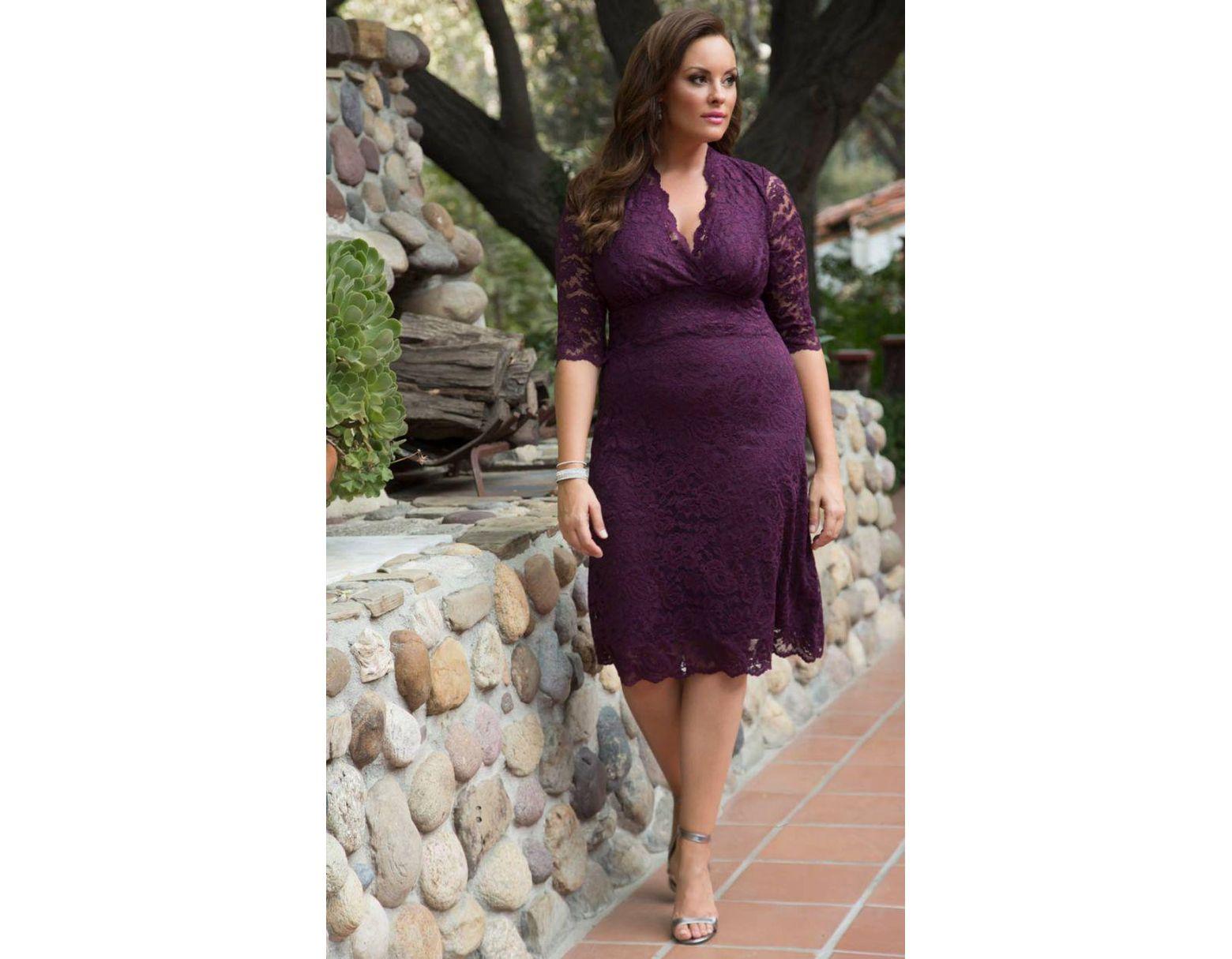 360b1561d3e Scalloped Boudoir Lace Plus Size Cocktail Dress - Gomes Weine AG