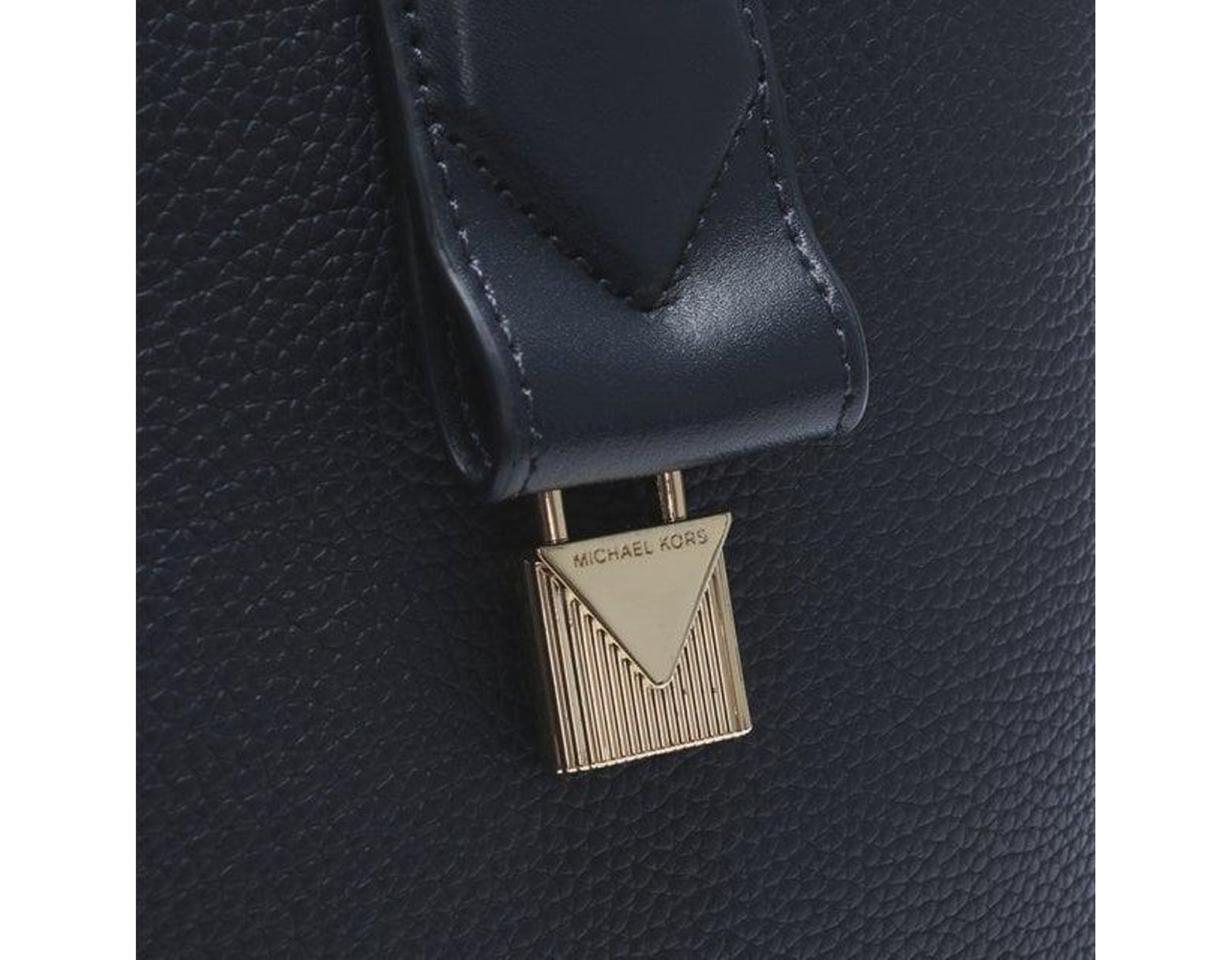 6d5833c6051e Michael Kors Large Rollins Admiral Pebbled Leather Satchel Bag in Blue -  Lyst