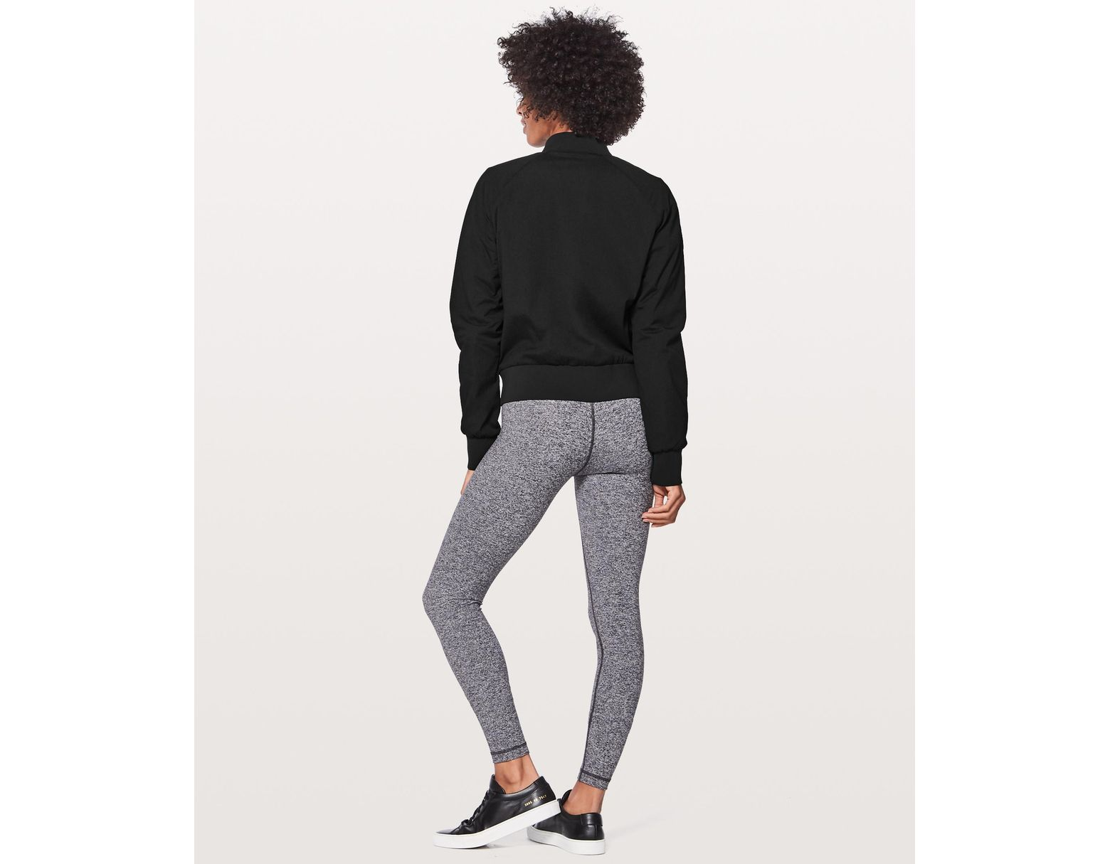8bfdbbf2cab lululemon athletica Non-stop Bomber *reversible Online Only in Black - Lyst
