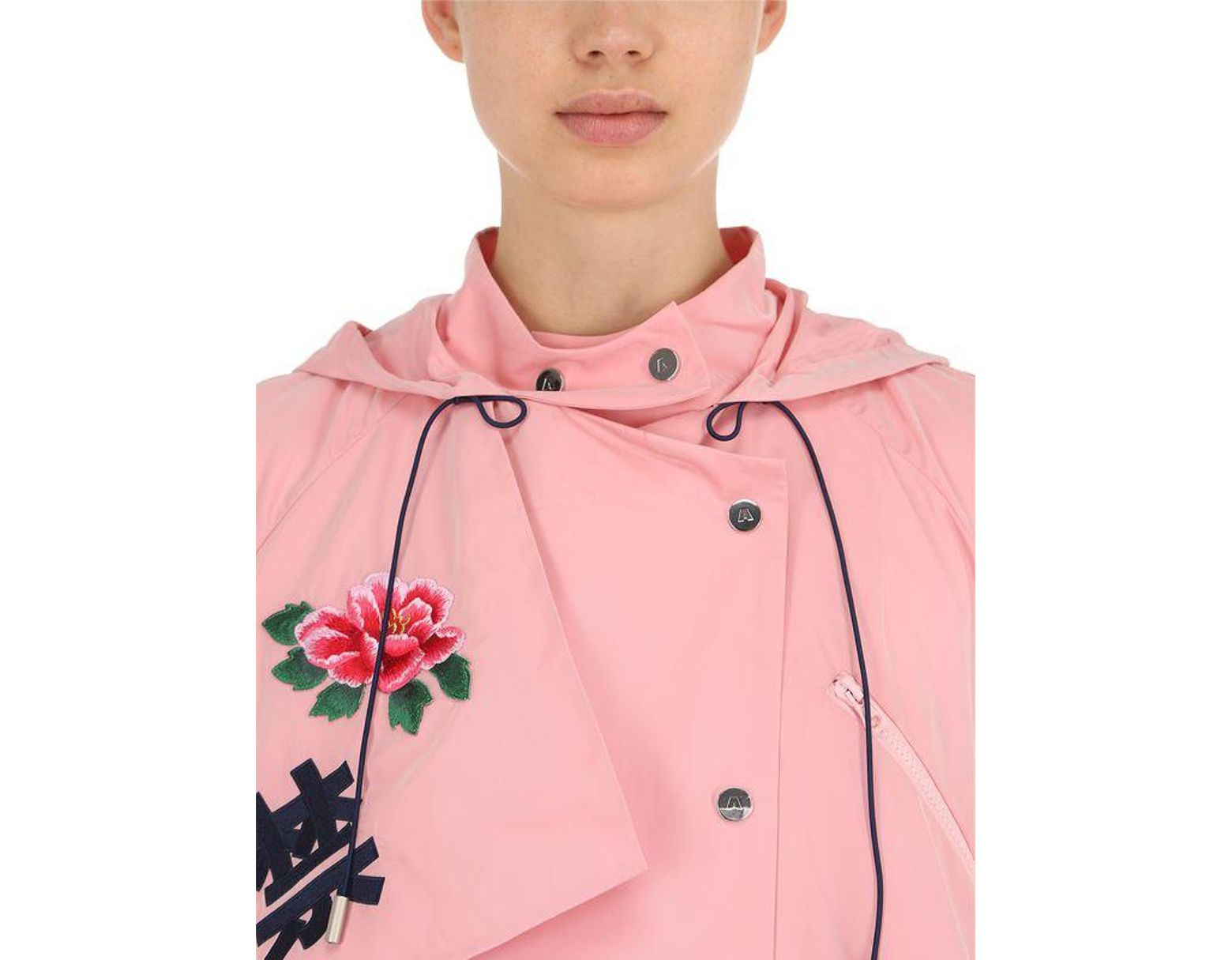 347e3cea8 Angel Chen Tokko Embroidered Windbreaker Coat in Pink - Lyst