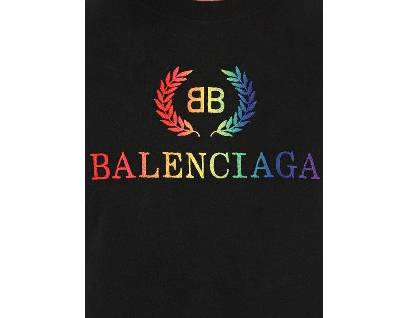 a8d0bbcf5d3c Balenciaga Rainbow Bb Small T-shirt in Black - Save 10% - Lyst