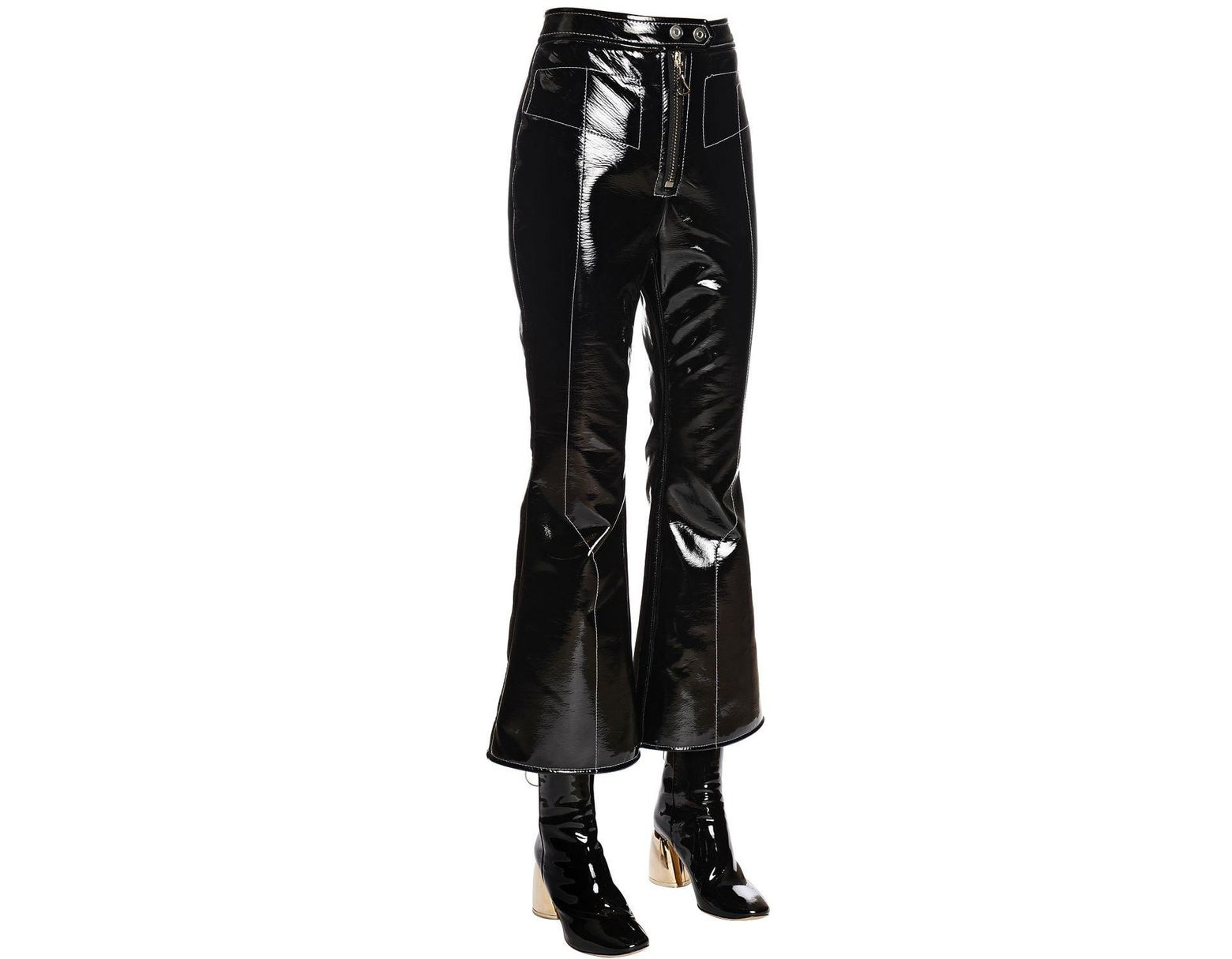 aa66e2f75c53 Ellery Stretch Faux Patent Leather Pants in Black - Save 17% - Lyst