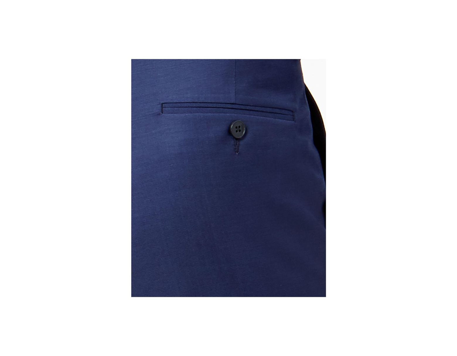 5db7b838c Calvin Klein Extra-slim Fit Infinite Stretch Blue Twill Suit Pants in Blue  for Men - Lyst