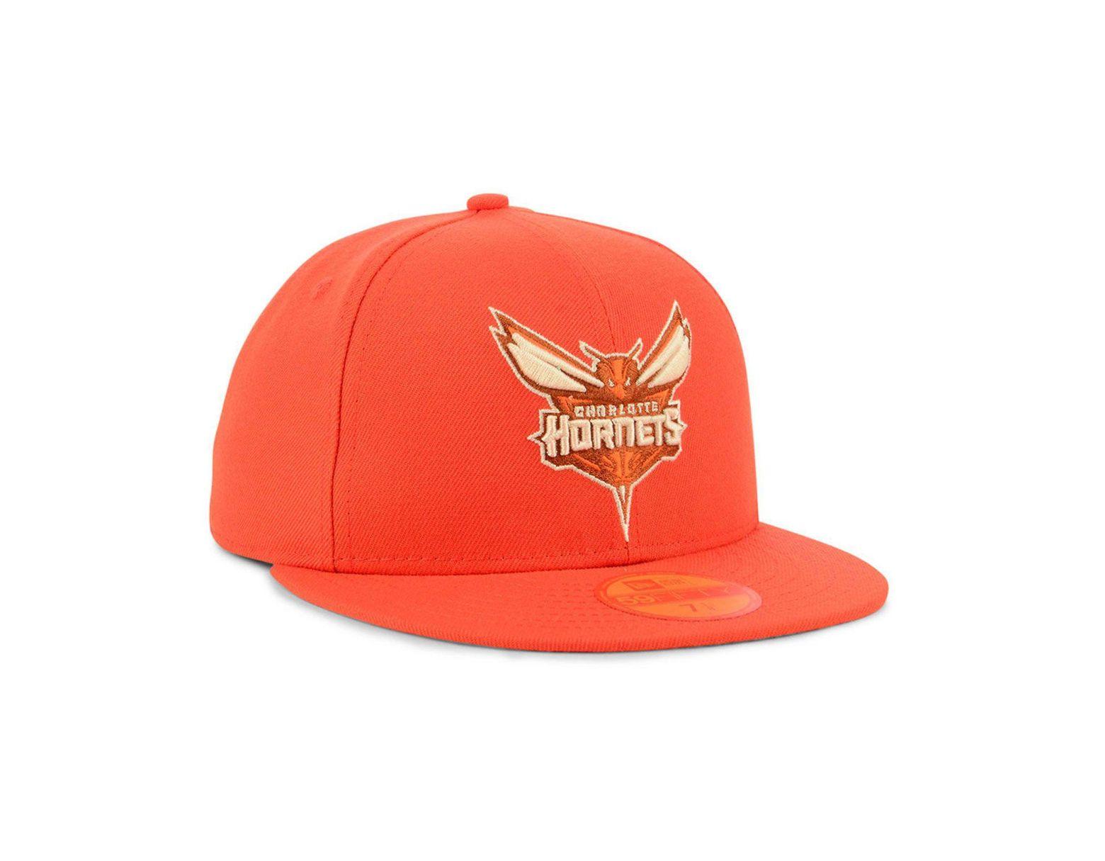 promo code 1ef77 c9184 KTZ Charlotte Hornets Color Prism Pack 59fifty Cap in Orange for Men - Lyst