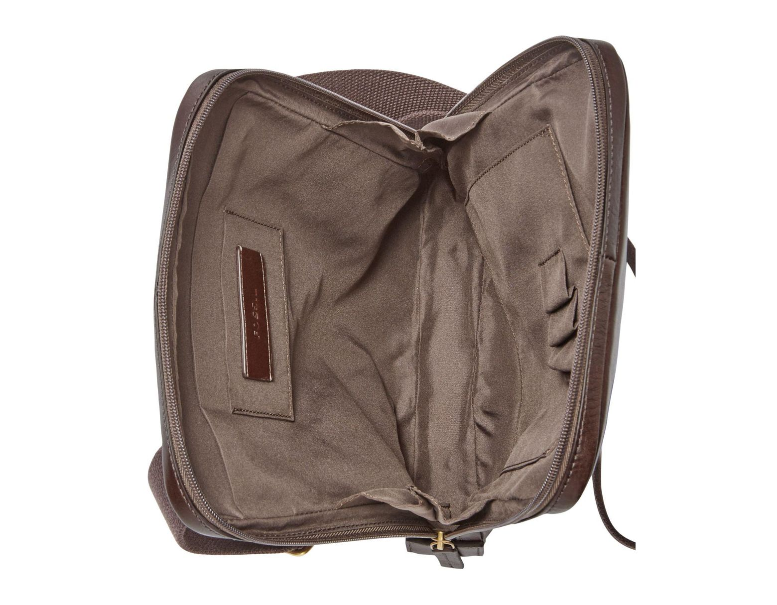 911be609ba4d11 Fossil Haskel Leather Courier Case in Brown for Men - Lyst