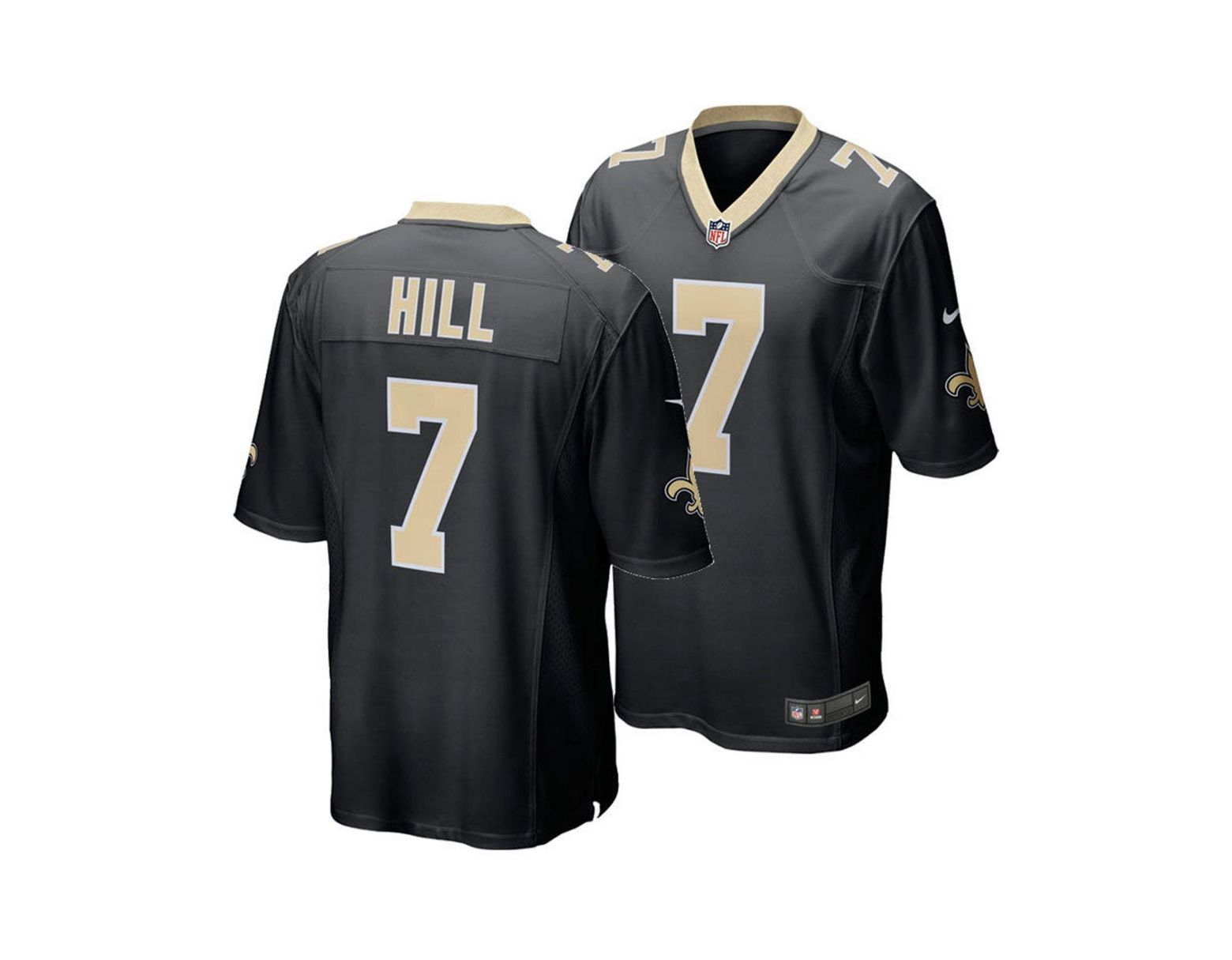 brand new 68fef 5a989 Nike Taysom Hill New Orleans Saints Game Jersey in Black for ...
