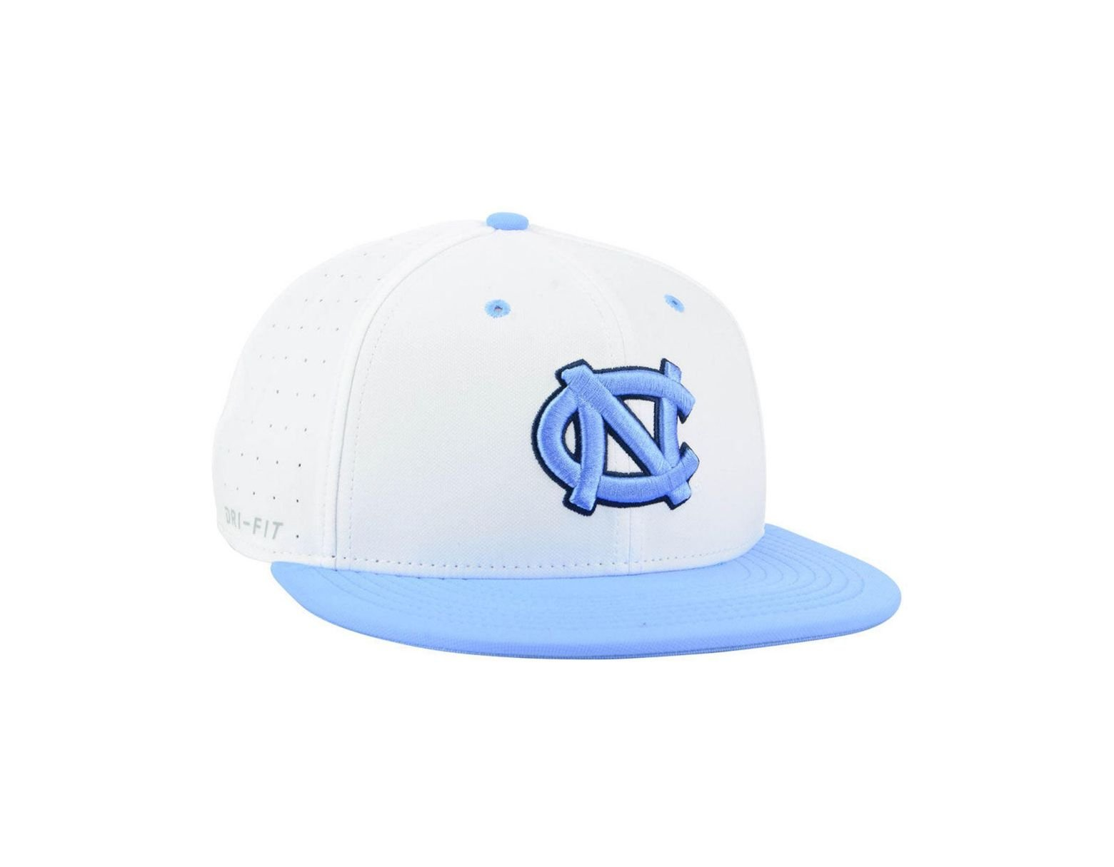 reputable site f8109 1c161 Nike North Carolina Tar Heels Aerobill True Fitted Baseball Cap in White  for Men - Lyst