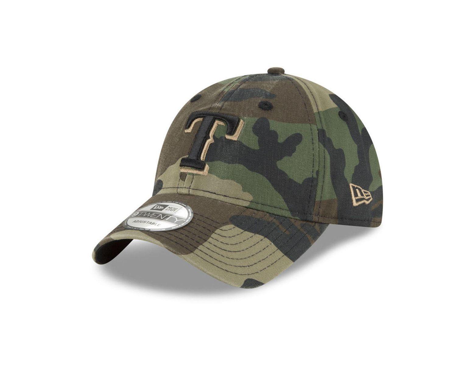 new style 83b1b ca8ad KTZ Texas Rangers Camo Core Classic 9twenty Cap in Green for Men - Lyst