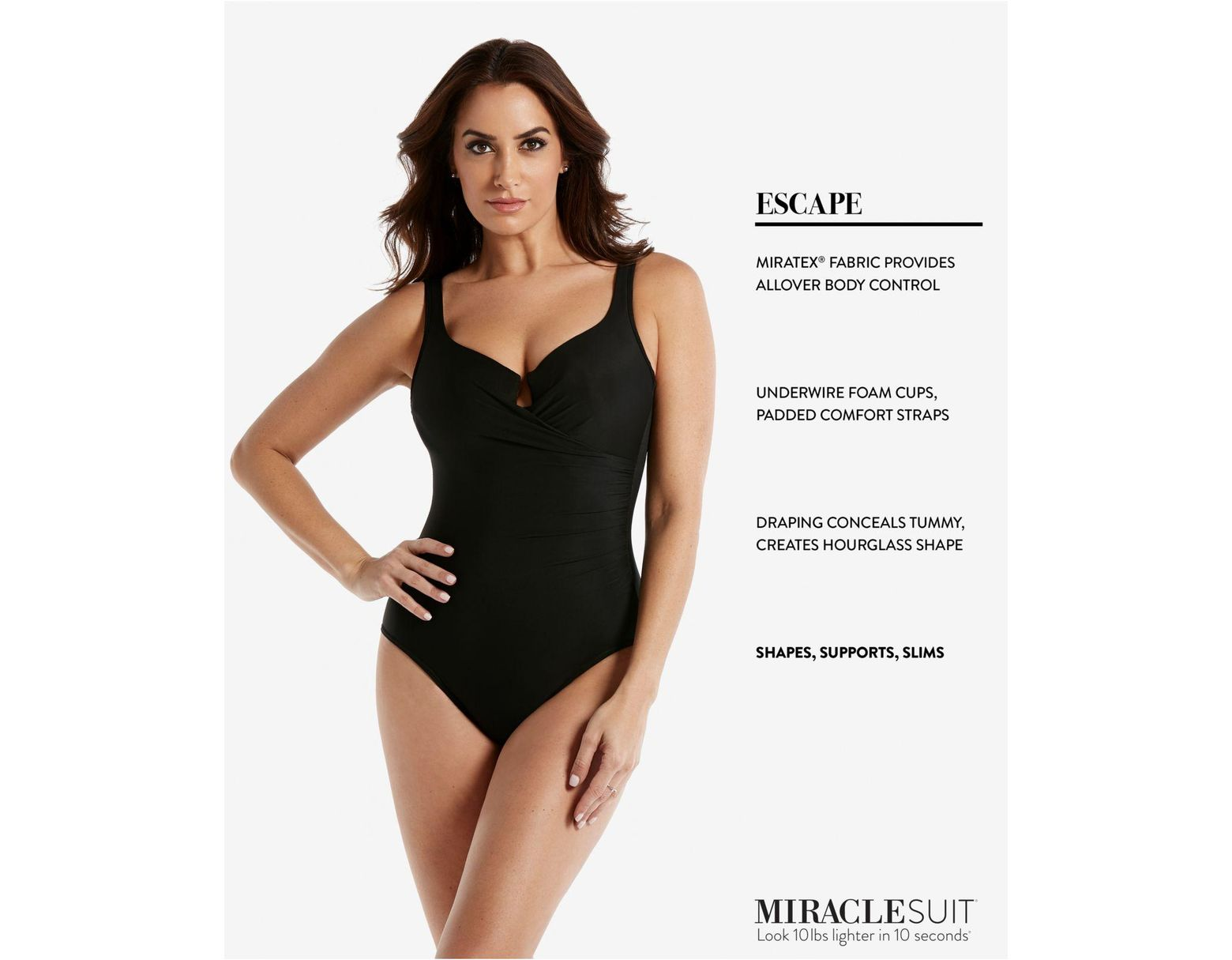 52e3ecd4cd3 Miraclesuit Plus Size Escape Underwire Allover-slimming Wrap One-piece  Swimsuit in Black - Lyst