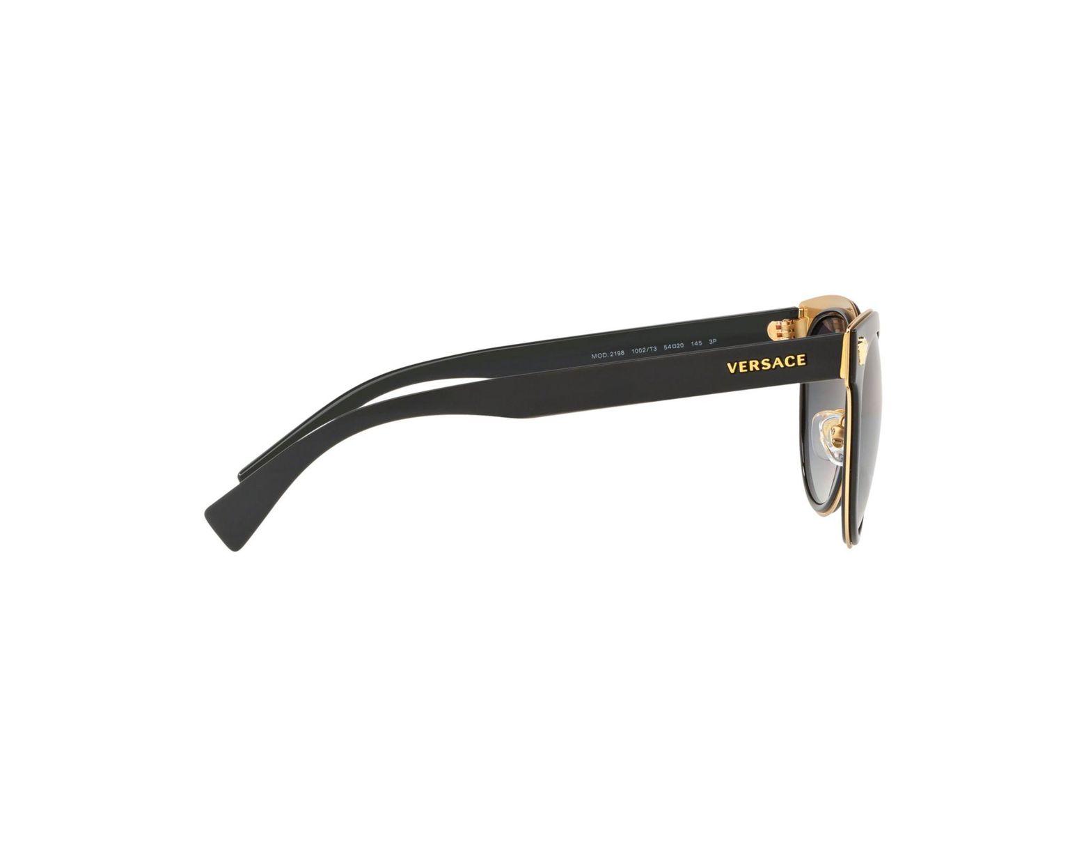 67fd95e3e6 Versace Polarized Round Metal Medusa Head Sunglasses in Black for Men - Lyst
