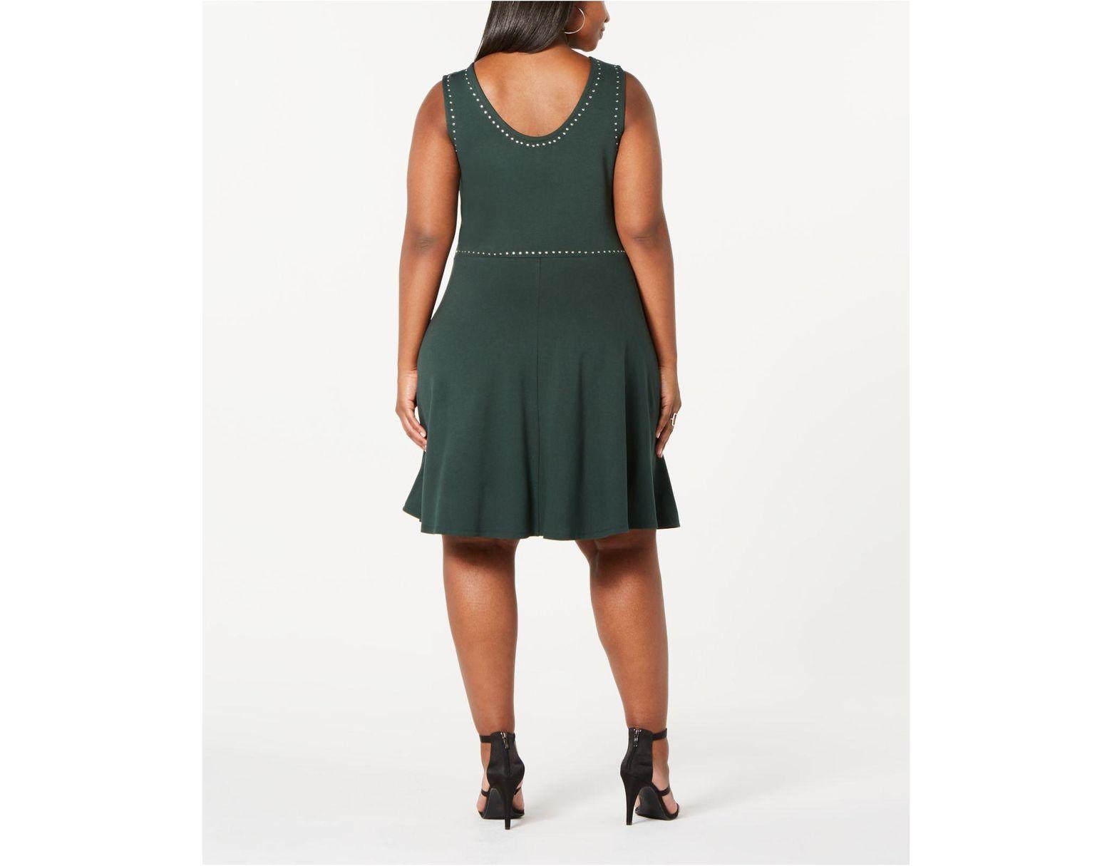 Derek Heart Trendy Plus Size Juniors\' Studded Tank Dress in ...