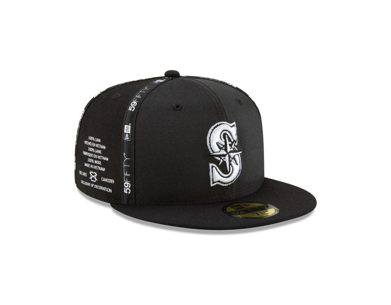 release date 7d61c 9a45d KTZ Seattle Mariners Inside Out 59fifty-fitted Cap in Black for Men - Lyst