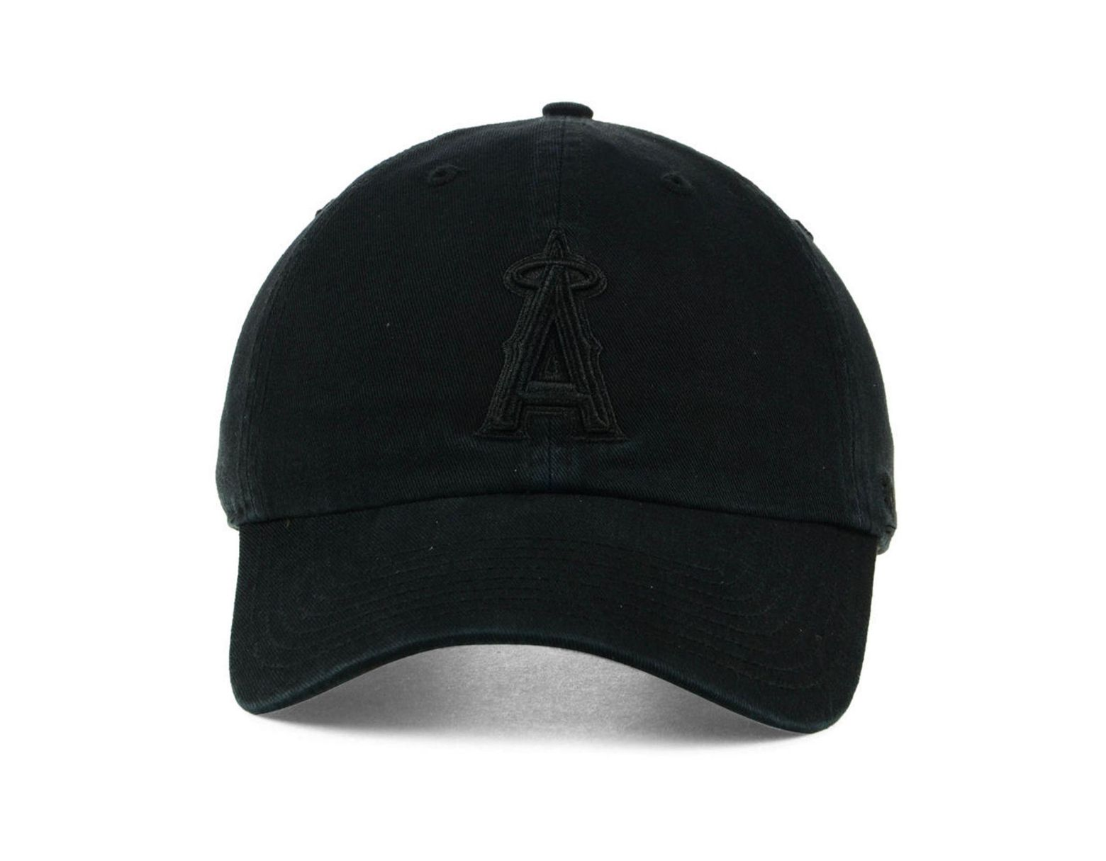 sale retailer 73483 b55cd 47 Brand Los Angeles Angels Black On Black Clean Up Cap in Black for Men -  Lyst