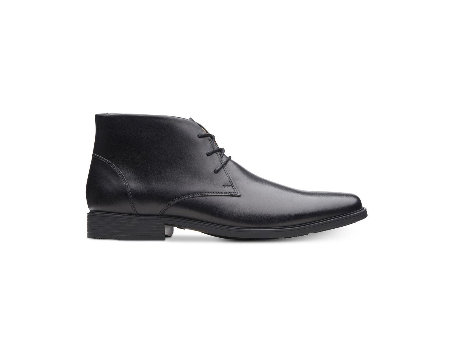 f72834adc933a Lyst - Clarks Tilden Top Waterproof Dress Chukka Boots in Black for Men