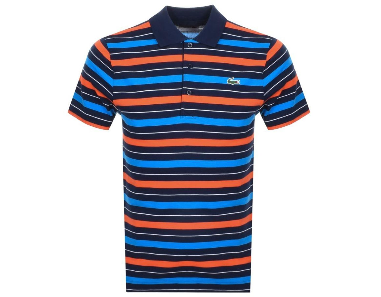 Polo Lacoste Blue T Shirt Sport In Lyst Men For Stripe Navy nPX0wkNOZ8