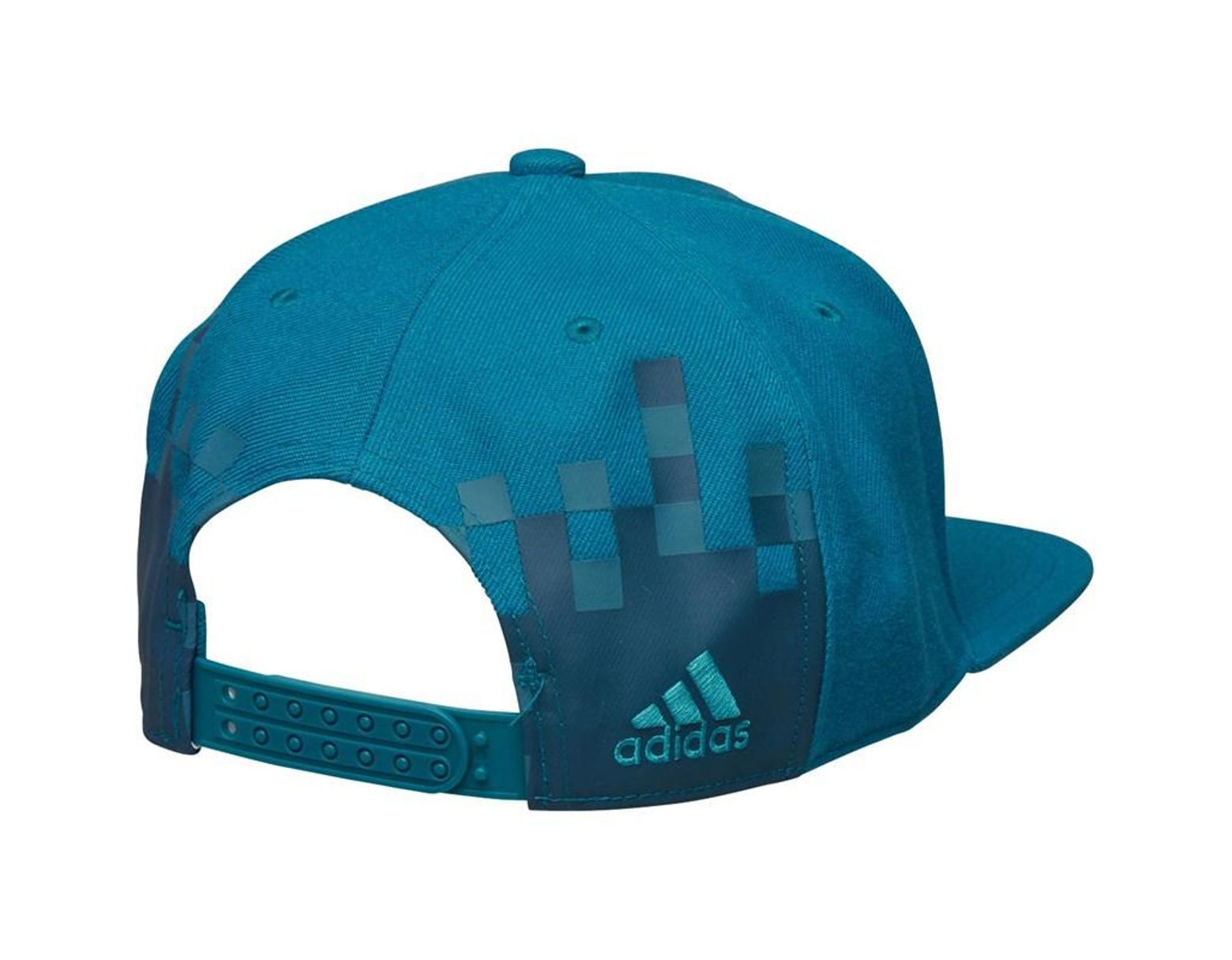 249dc72a9a1a0 adidas Rmcf Real Madrid Flat Brim Cap Vivid Teal white in Blue for Men -  Lyst