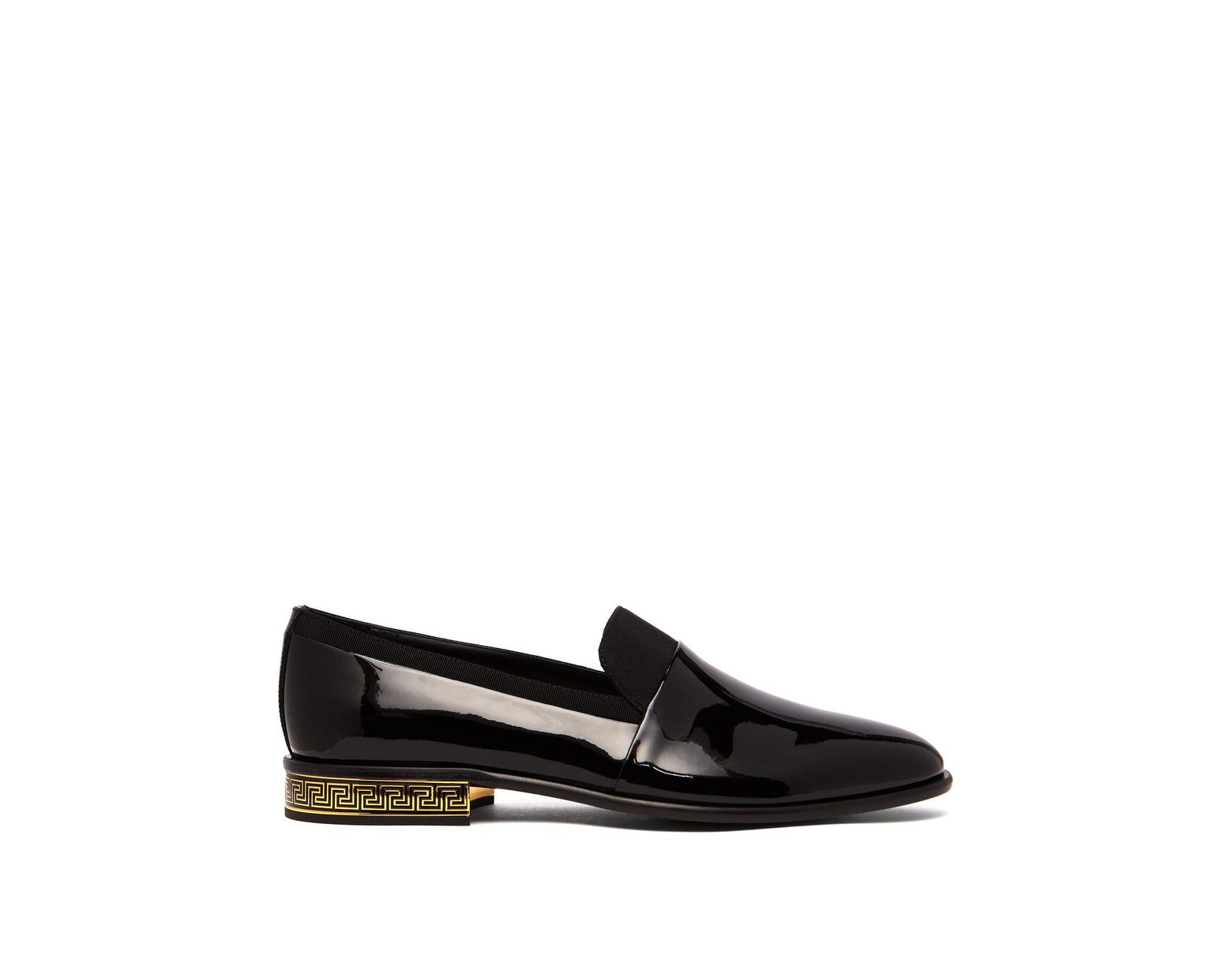 4728450c95 Versace Contrast Leather Loafers in Black for Men - Save 30% - Lyst