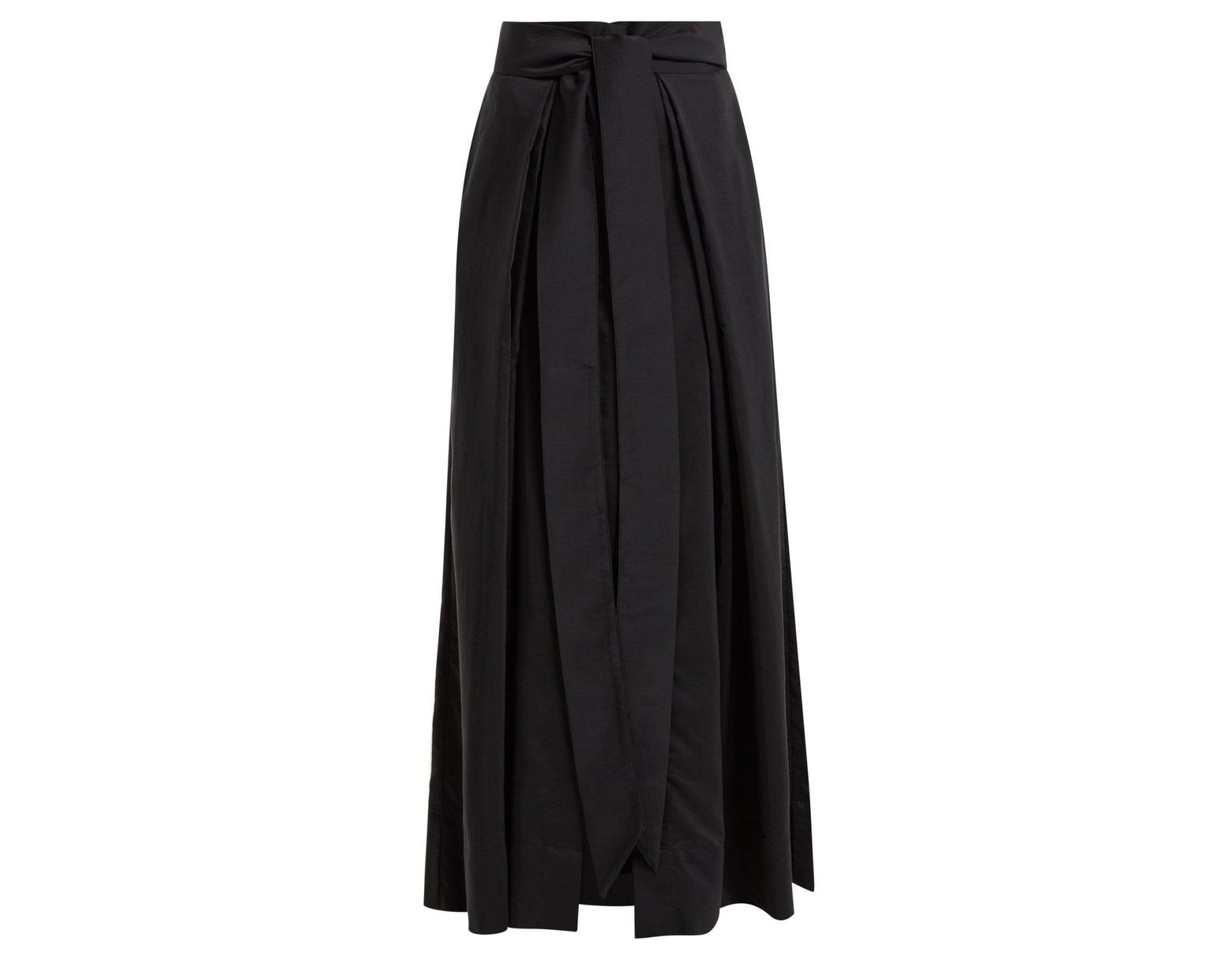 320a1770b Kalita Avendon Cotton And Silk Blend Maxi Skirt in Black - Lyst