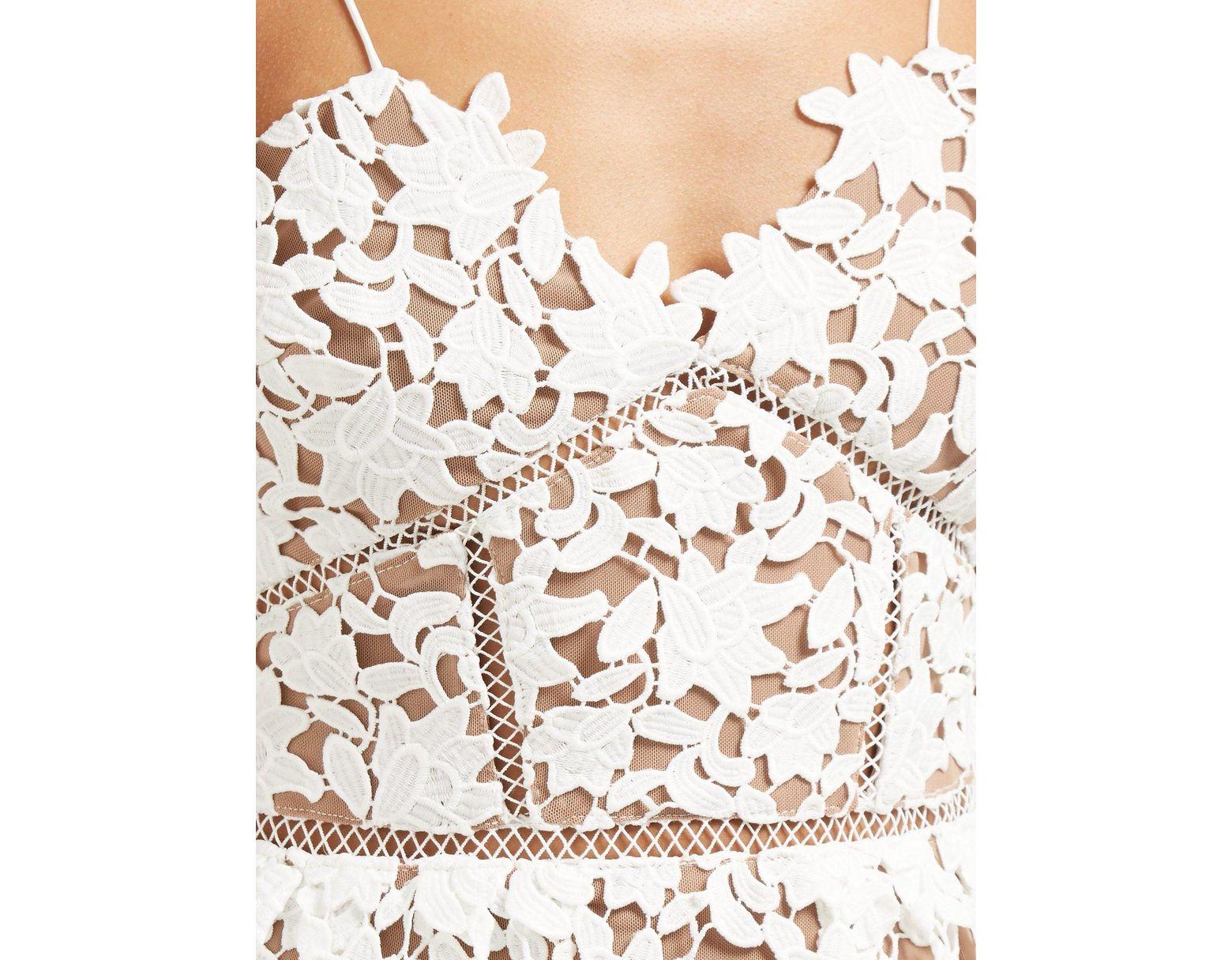 6fb099e7c0f Self-Portrait Azaelea Lace Mini Dress in White - Save 23% - Lyst