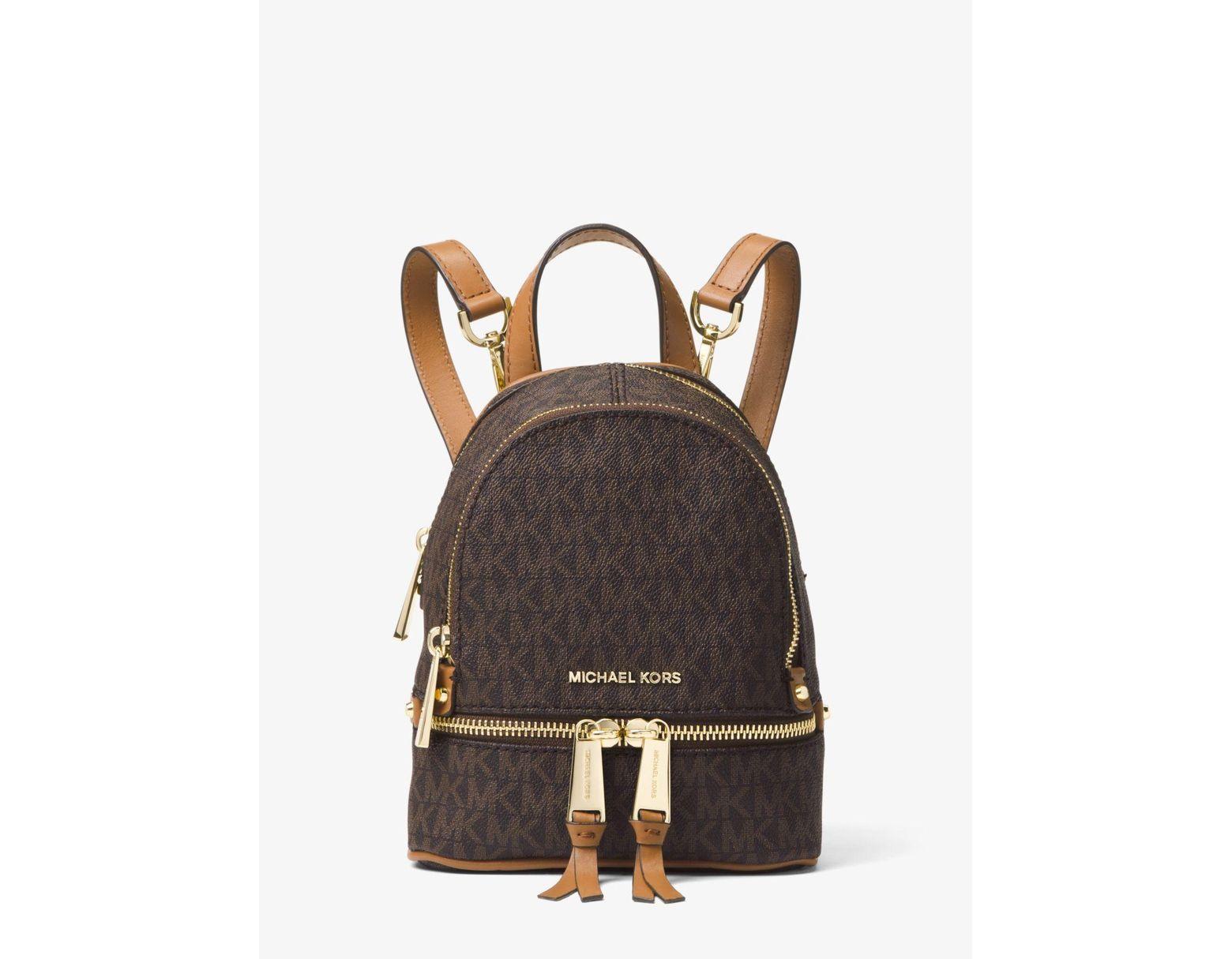 c17766d59c6a MICHAEL Michael Kors Rhea Mini Logo Backpack in Brown - Lyst
