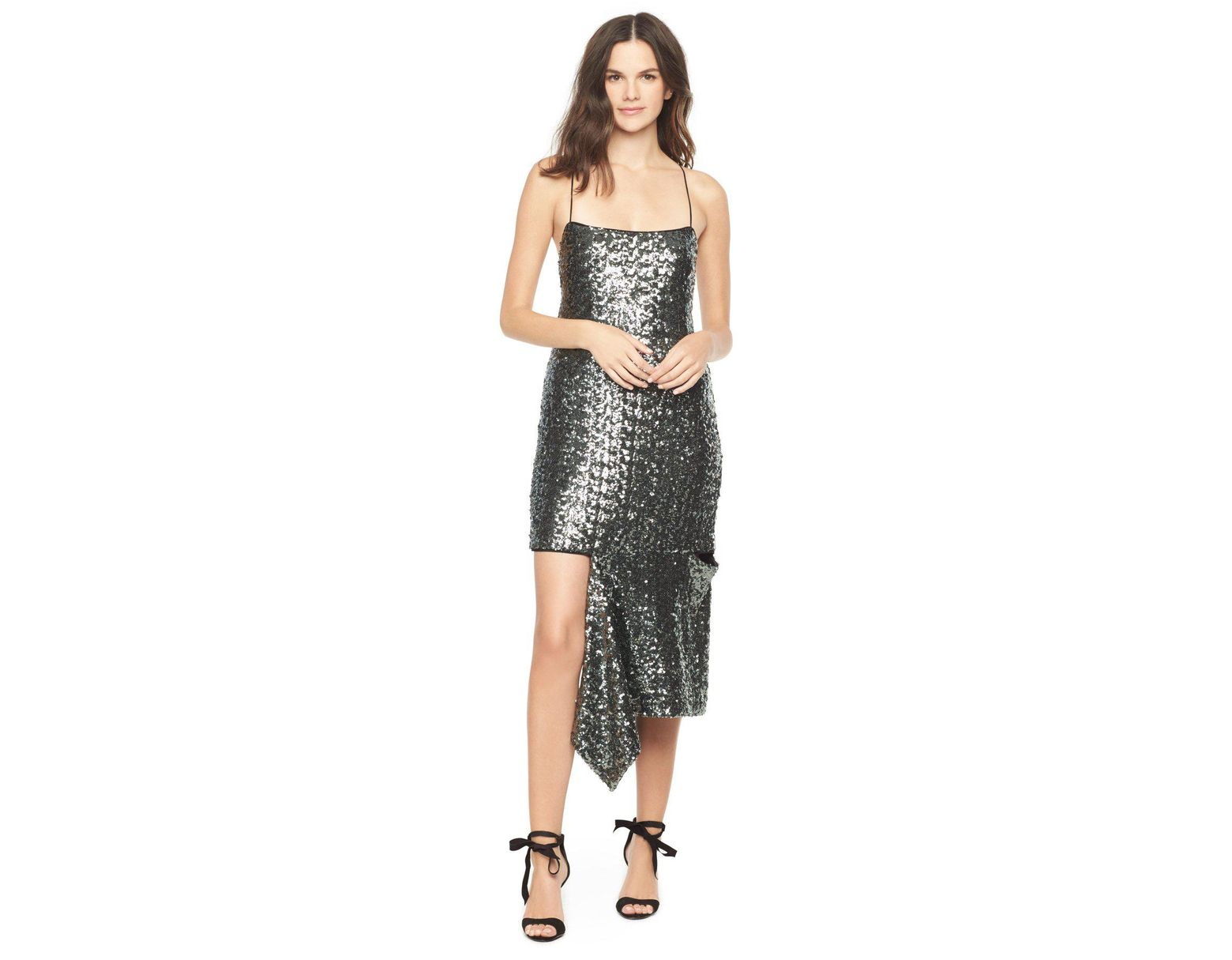 15f7a5bf MILLY Sea Glass Sequins Slashed Cami Dress - Save 16% - Lyst