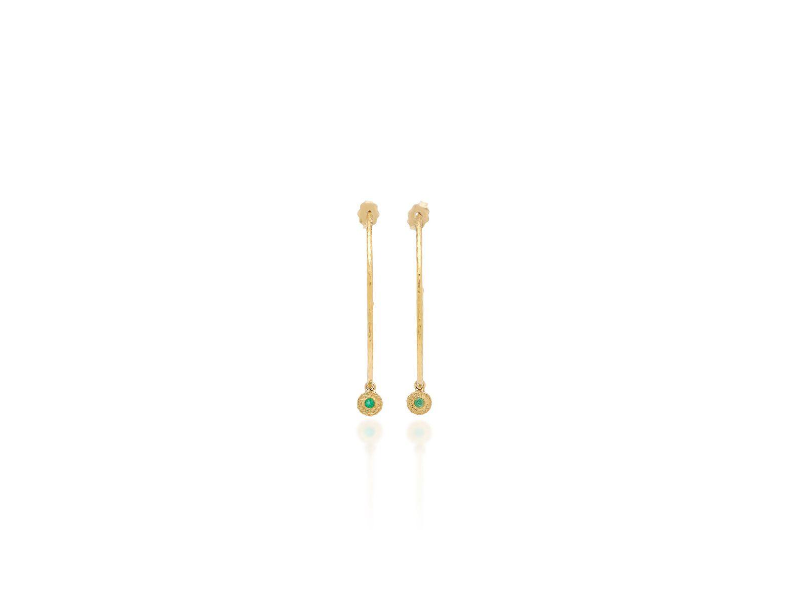 274d19099 Lyst - Octavia Elizabeth Nesting Gem Emerald And 18k Gold Hoop Earrings in  Green