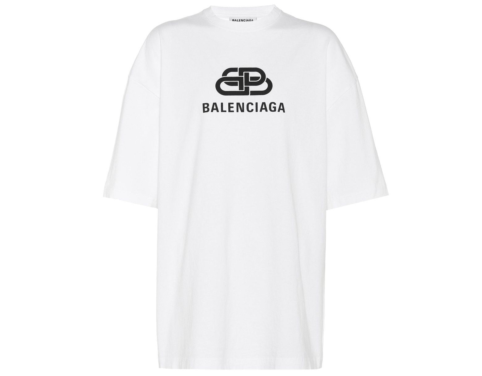 8ee7e604 Balenciaga Bb Logo Oversize Cotton Jersey T-shirt in White - Save 26% - Lyst