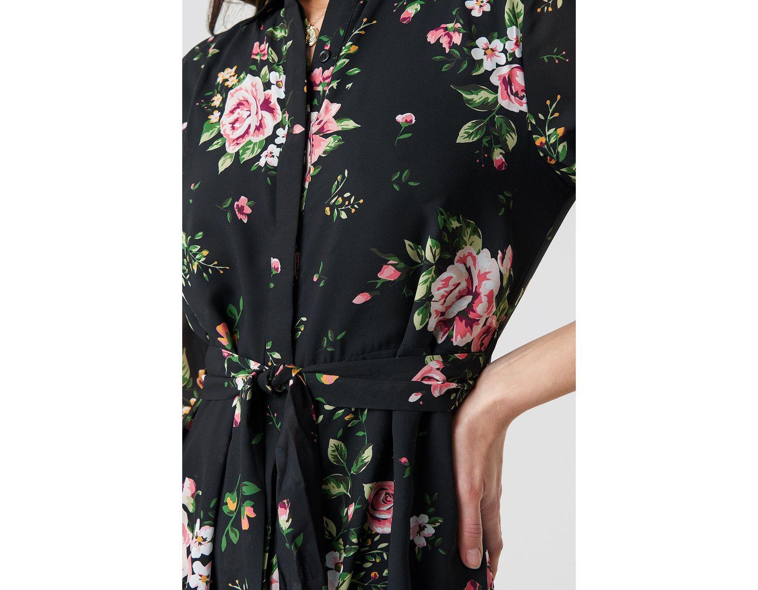 e89f984830 NA-KD Dark Floral Maxi Dress Multicolor - Lyst