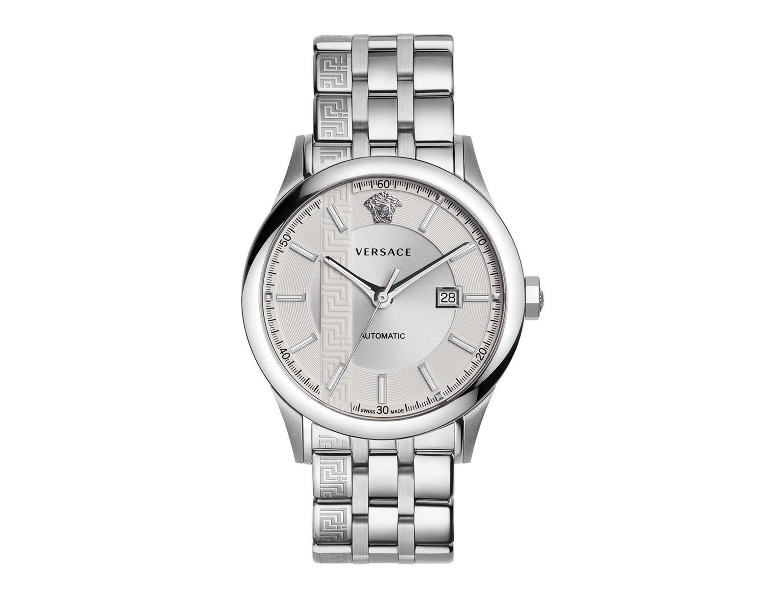 07359e76a Versace Aiakos Stainless Steel Automatic Watch in Metallic for Men - Lyst