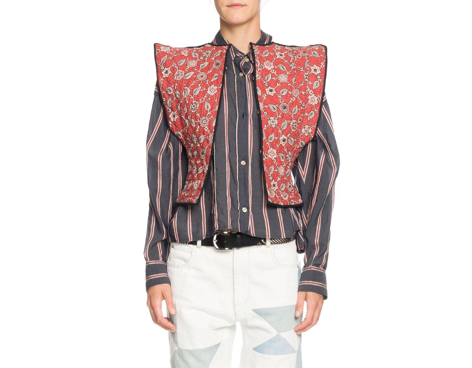 538fc72ba4f Étoile Isabel Marant Mandie Floral Reversible Linen Vest - Save 60% - Lyst