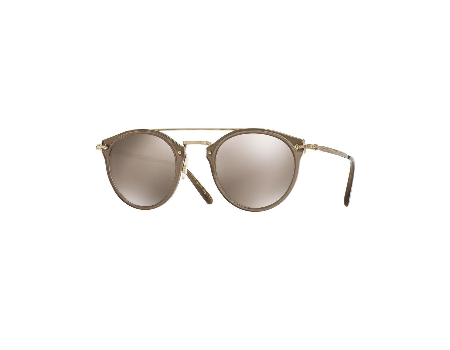 1d2efced4 Oliver Peoples Remick Mirrored Brow-bar Sunglasses - Lyst