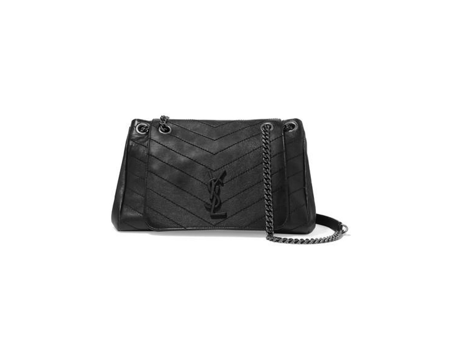 ee868ed9a7e Saint Laurent Nolita Large Quilted Leather Shoulder Bag in Black - Lyst