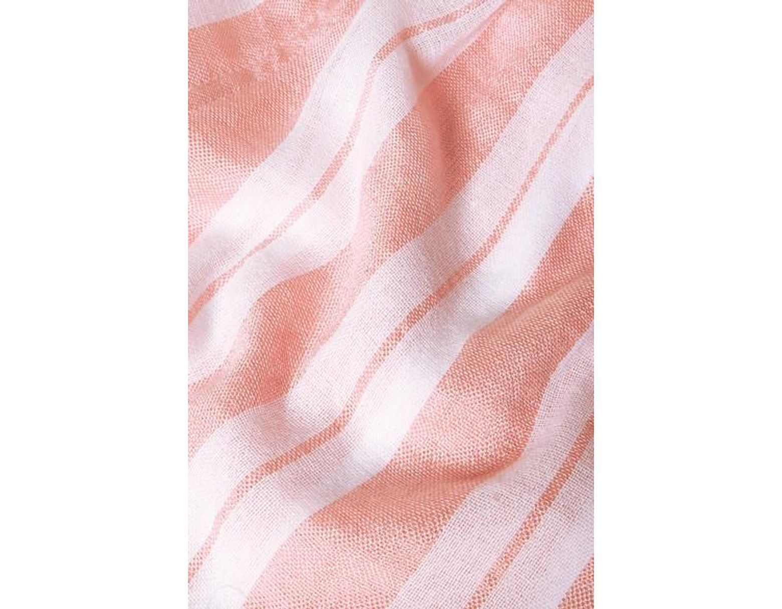 Lemlem Net Sustain Doro Striped Cotton Blend Gauze Shorts