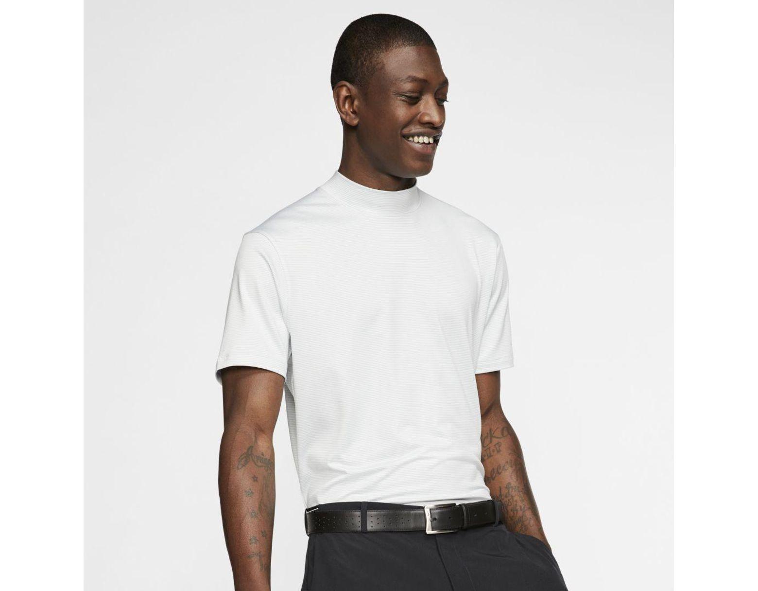 b05d7b28 Nike Dri-fit Tiger Woods Vapor Mock-neck Golf Top in White for Men ...