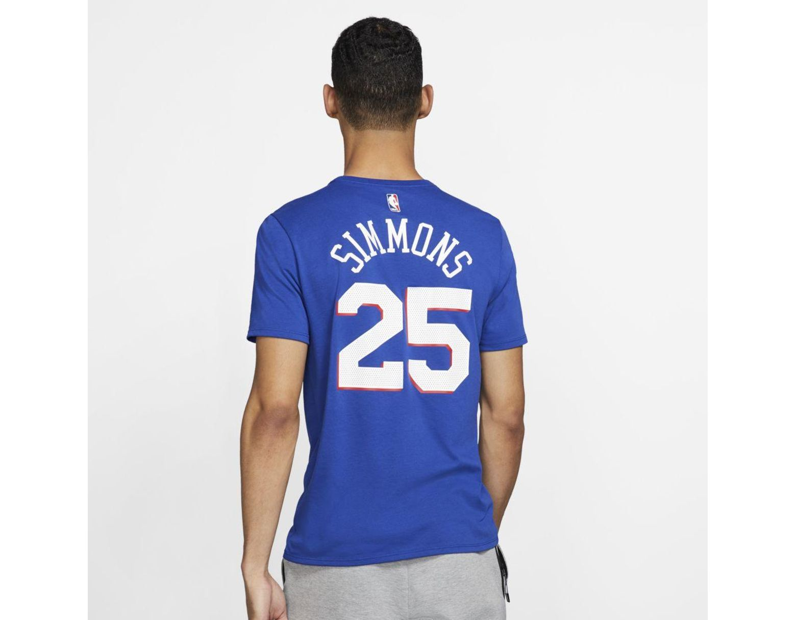 86334a8367e Nike Ben Simmons Philadelphia 76ers Dri-fit Nba T-shirt in Blue for Men -  Lyst