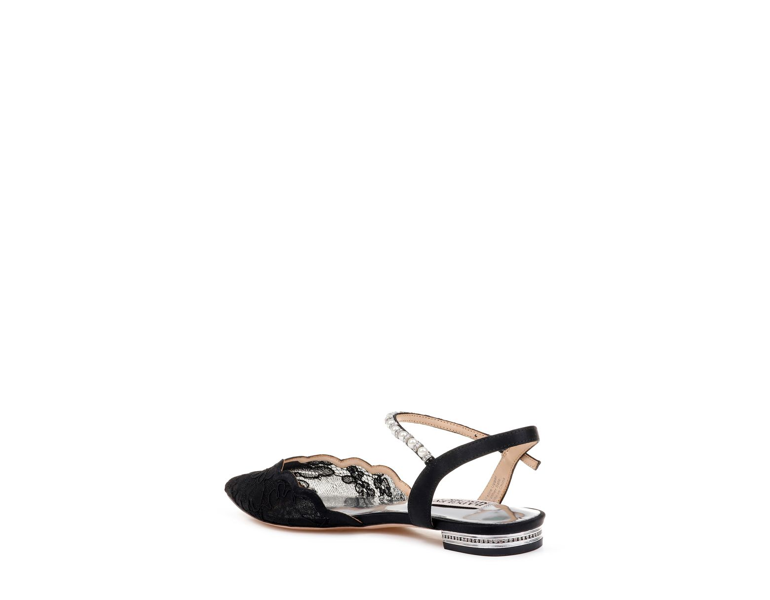 8b137b6571 Badgley Mischka Badgley Mischka Lennon Embellished Skimmer Flat in Black -  Lyst