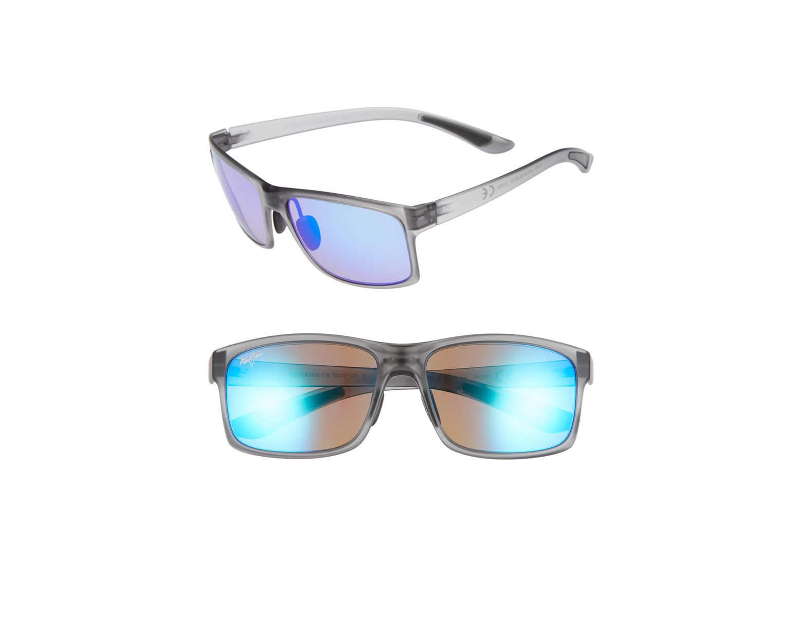 3c5f16774efe3 Maui Jim Pokowai Arch 58mm Polarized Sunglasses - Translucent Matte Grey   Blue in Gray for Men - Lyst