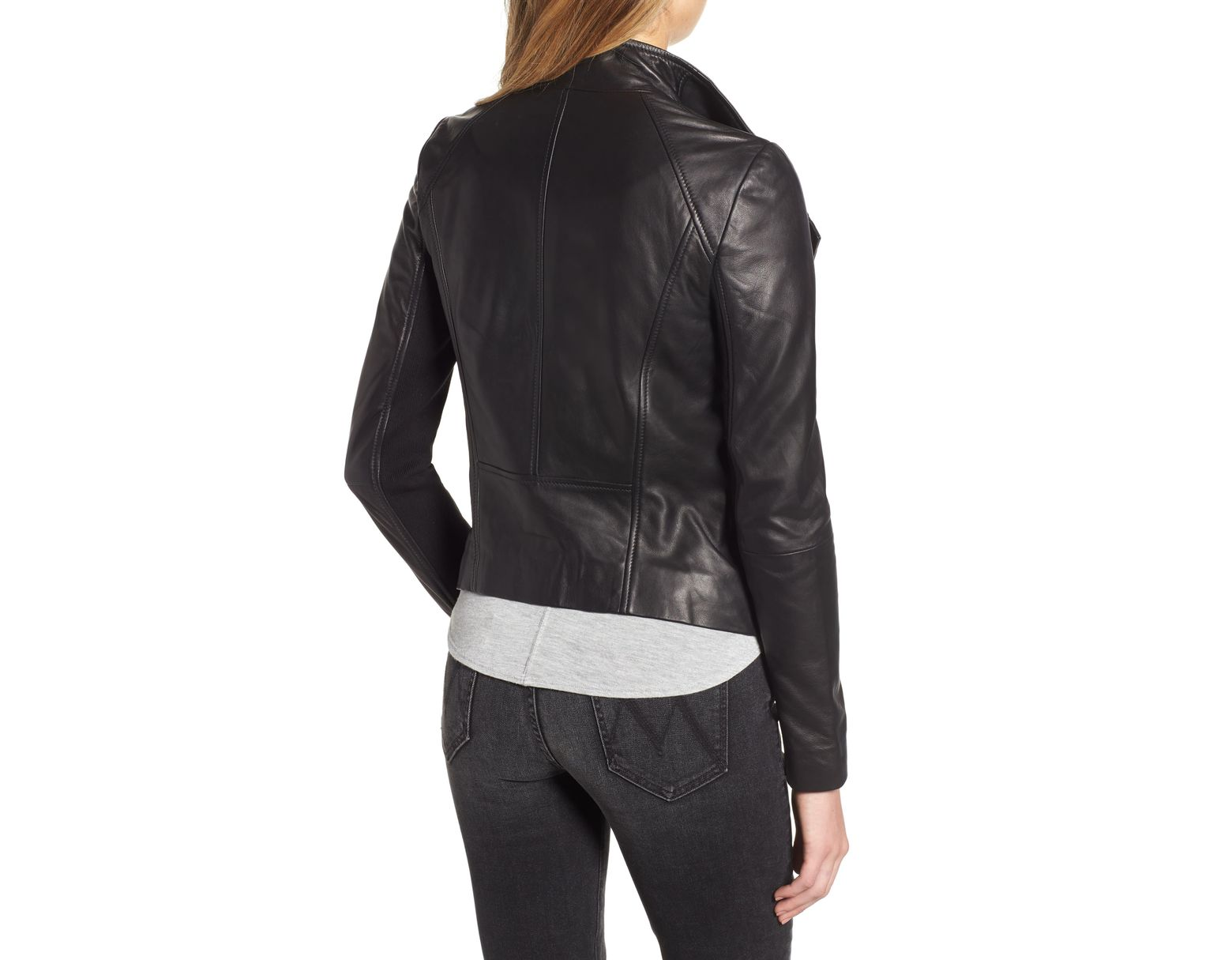 ae9f45337c3 Chelsea28 Leather Moto Jacket in Black - Lyst