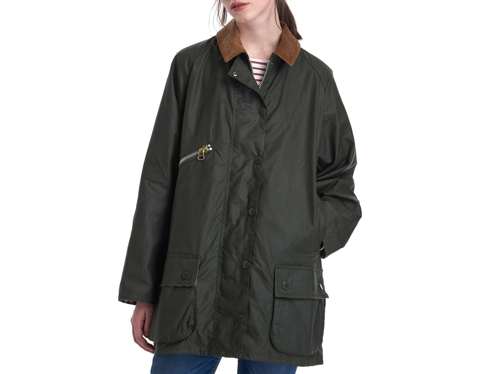 280a80e21 Barbour X Alexa Chung Edith Weatherproof Waxed Cotton Jacket in ...