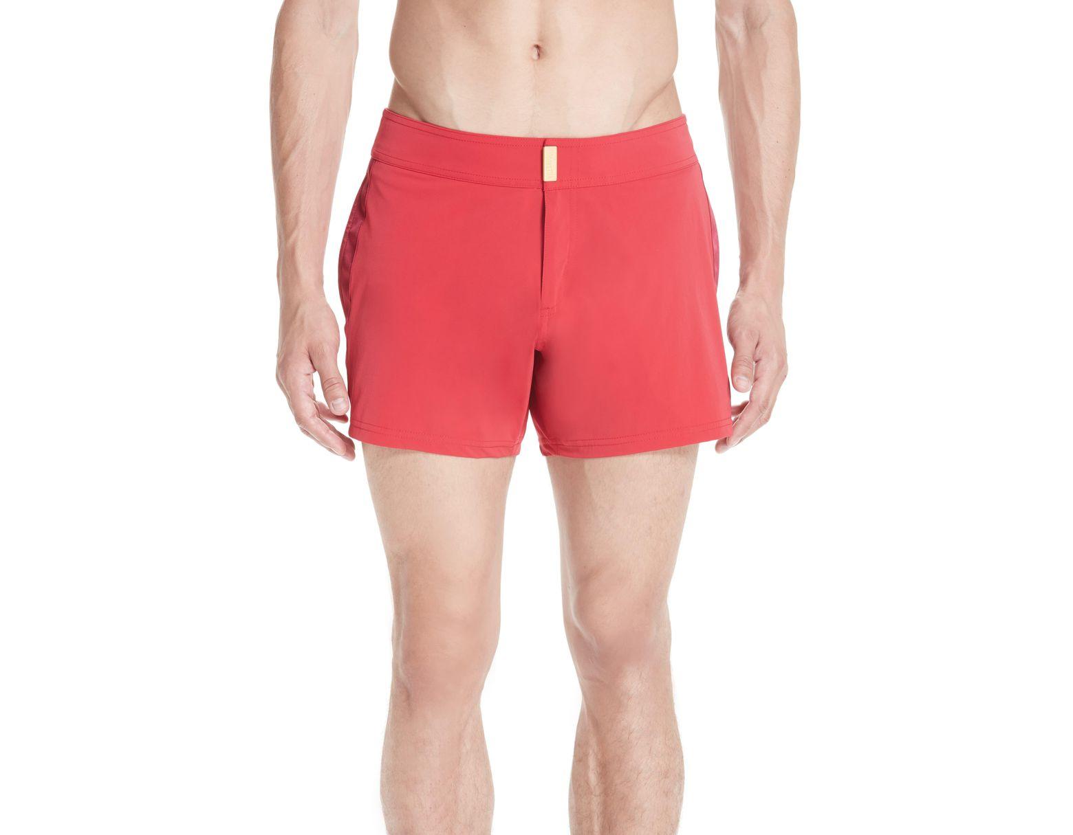 d482b1e89573f Vilebrequin Smoking Tuxedo Swim Trunks in Red for Men - Lyst
